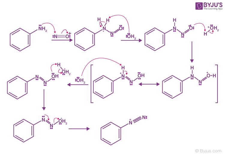 Benzenediazonium Ion Formation