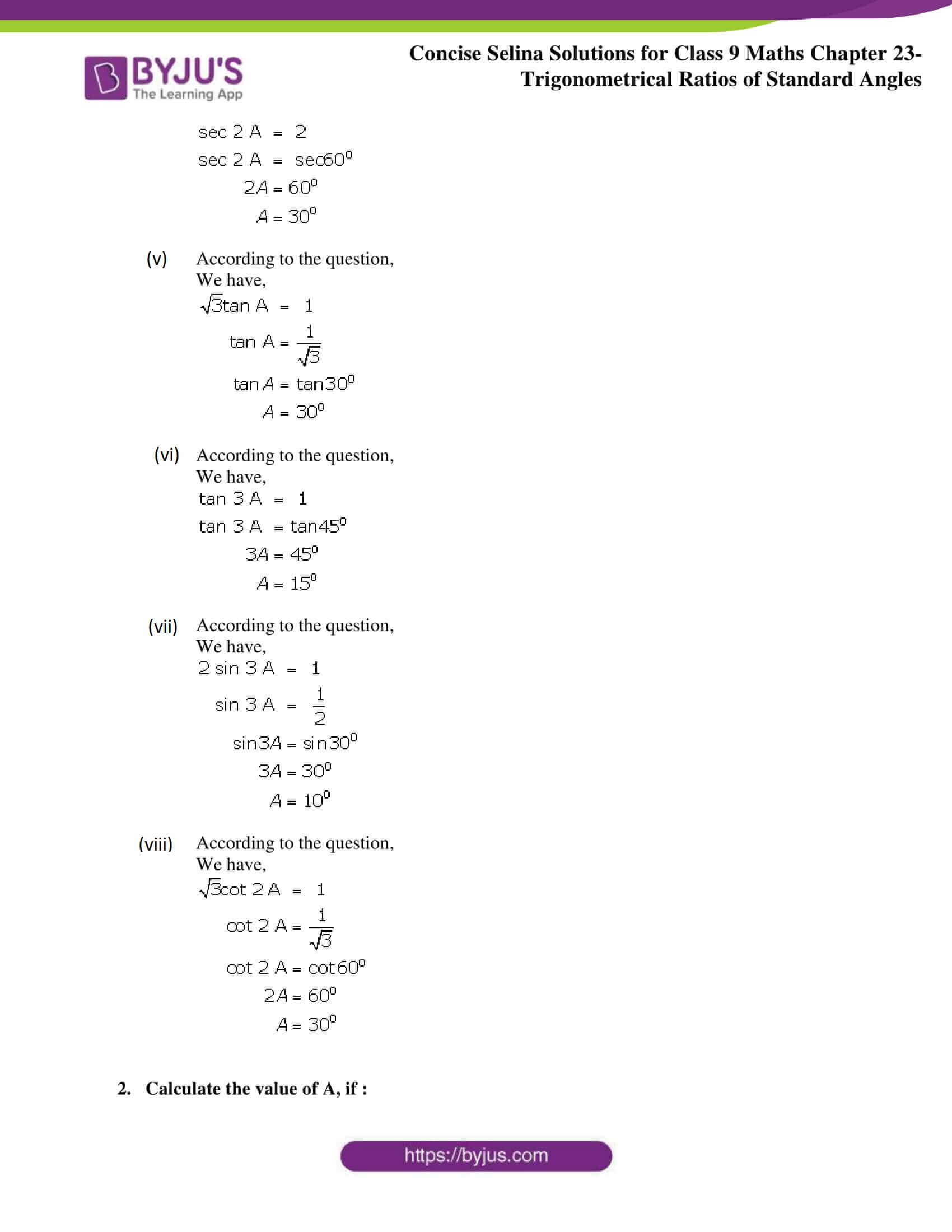 Concise Selina Solutions Class 9 Maths Chapter 23 part 20