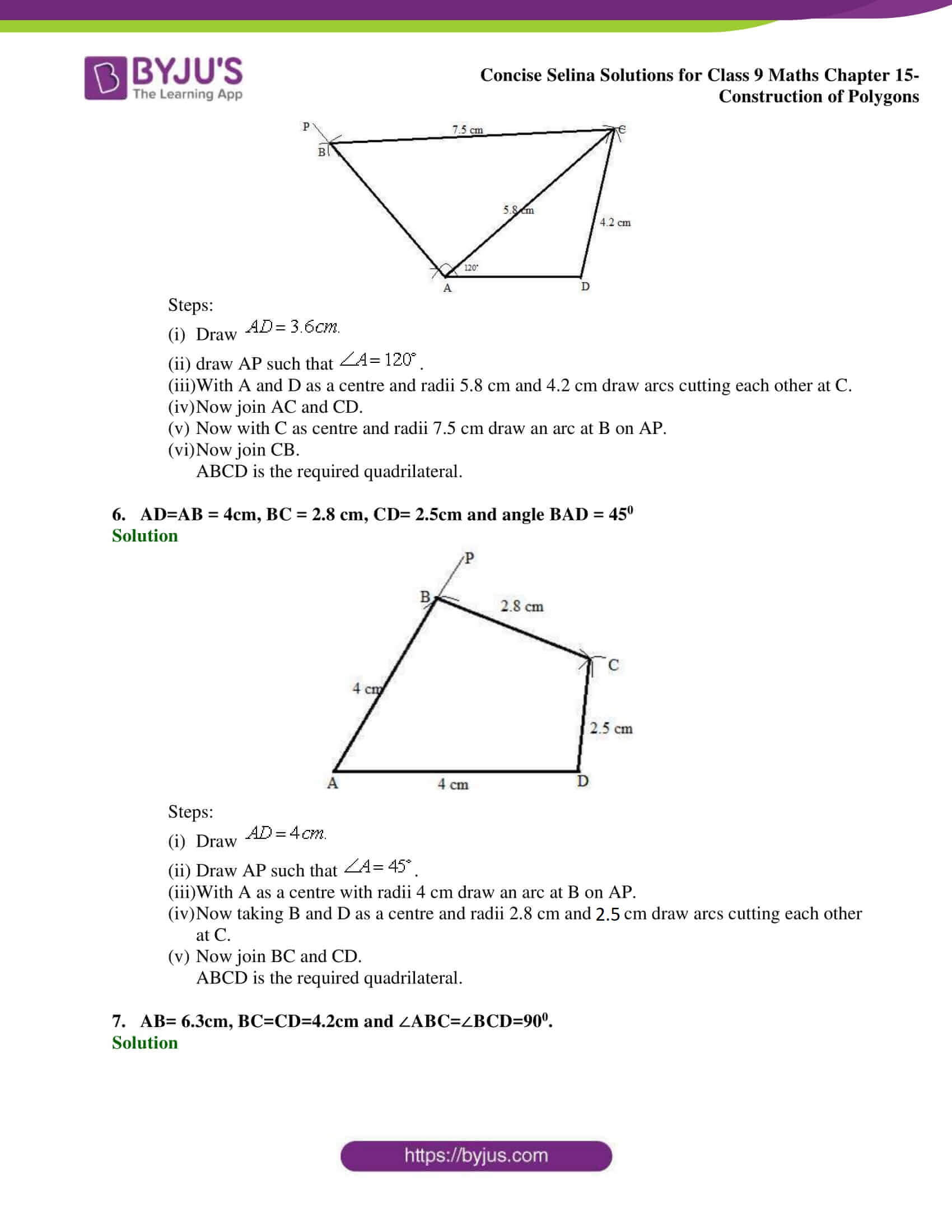 selina Solutions for Class 9 Maths Chapter 15 part 03