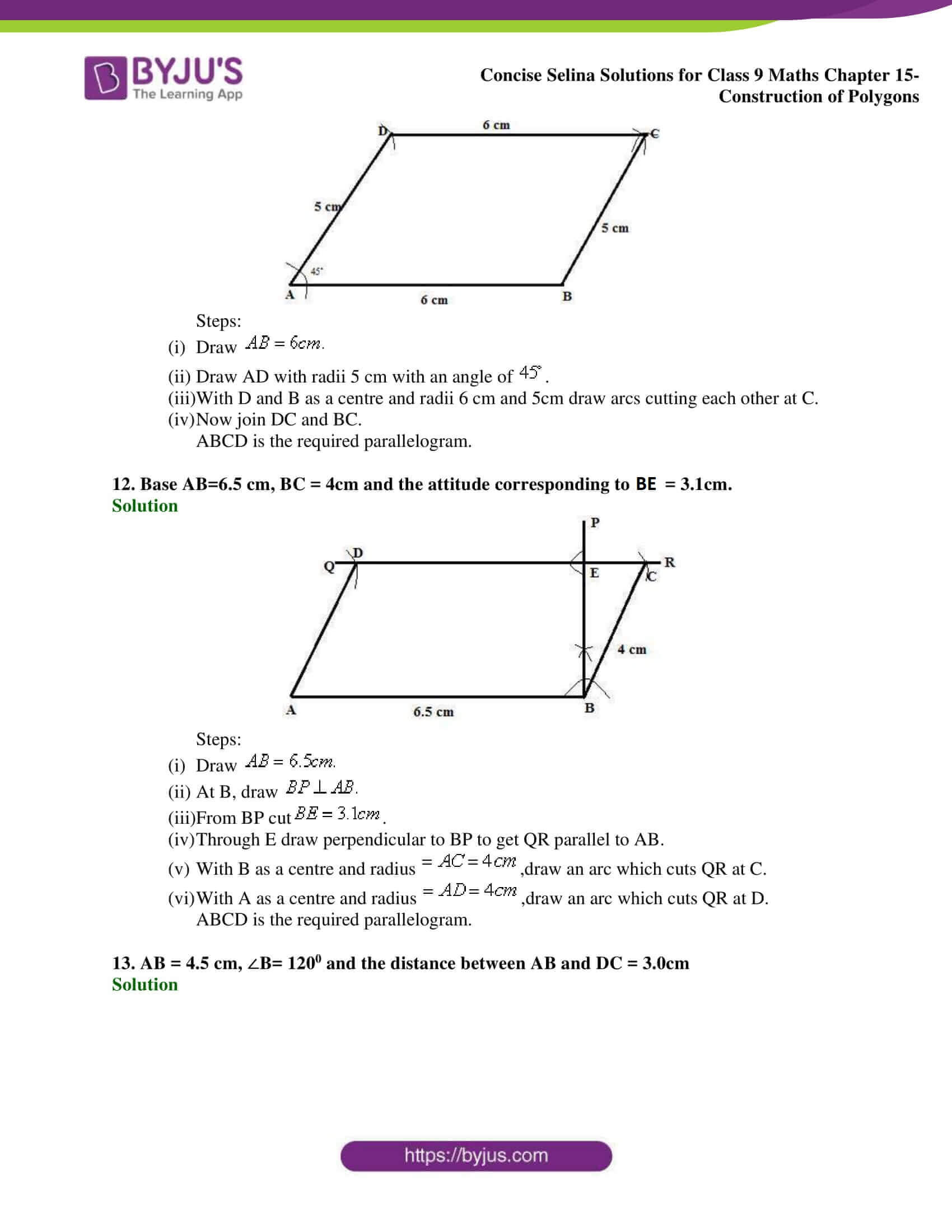 selina Solutions for Class 9 Maths Chapter 15 part 06