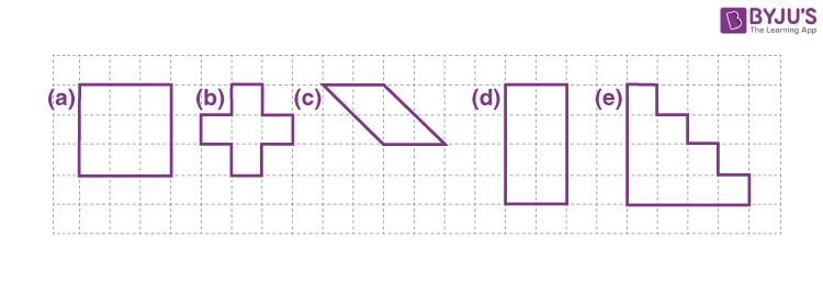 Area of shape by counting squares example