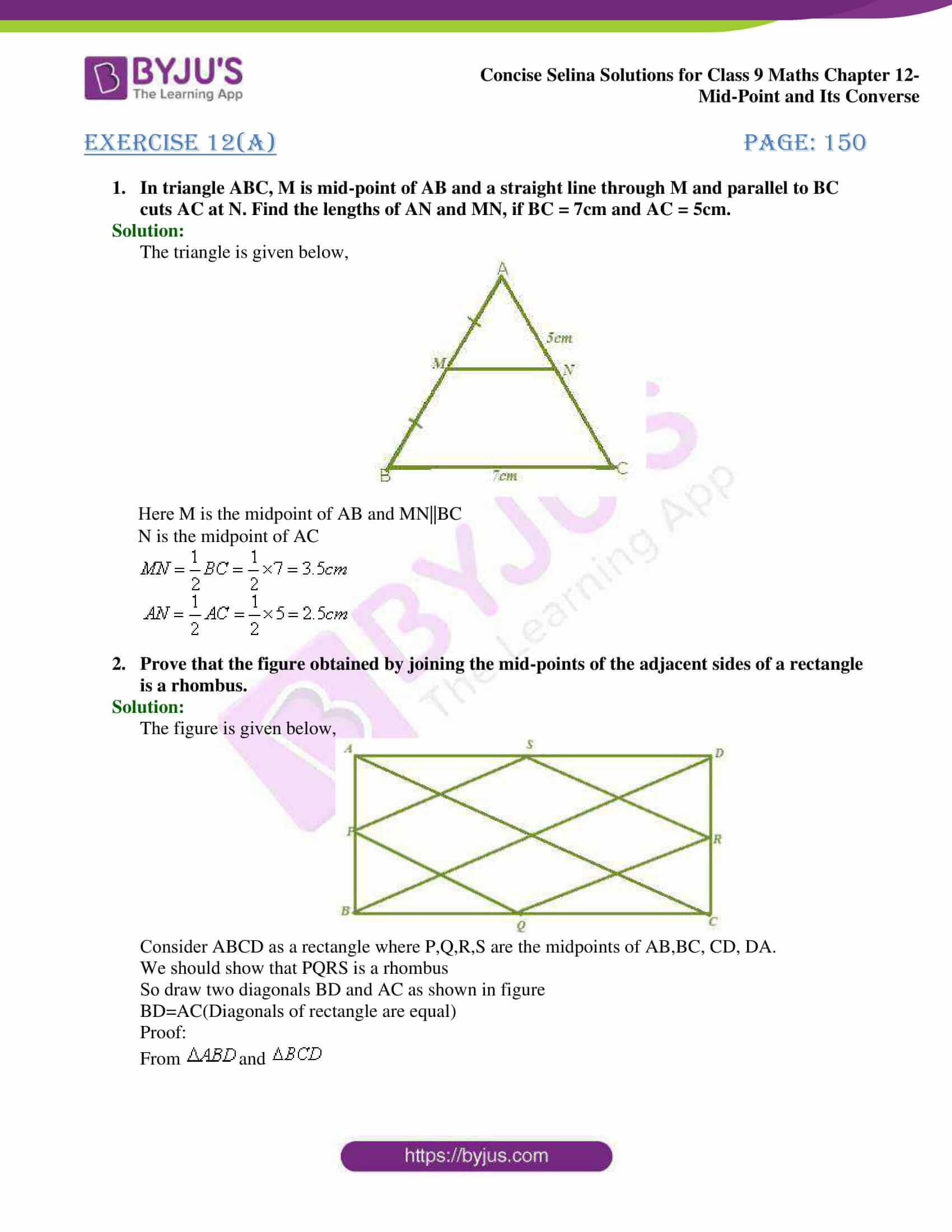 selina Solutions for Class 9 Maths Chapter 12 01