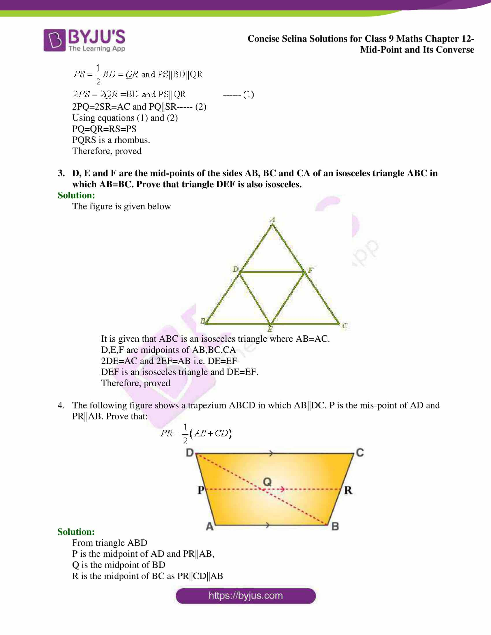 selina Solutions for Class 9 Maths Chapter 12 02