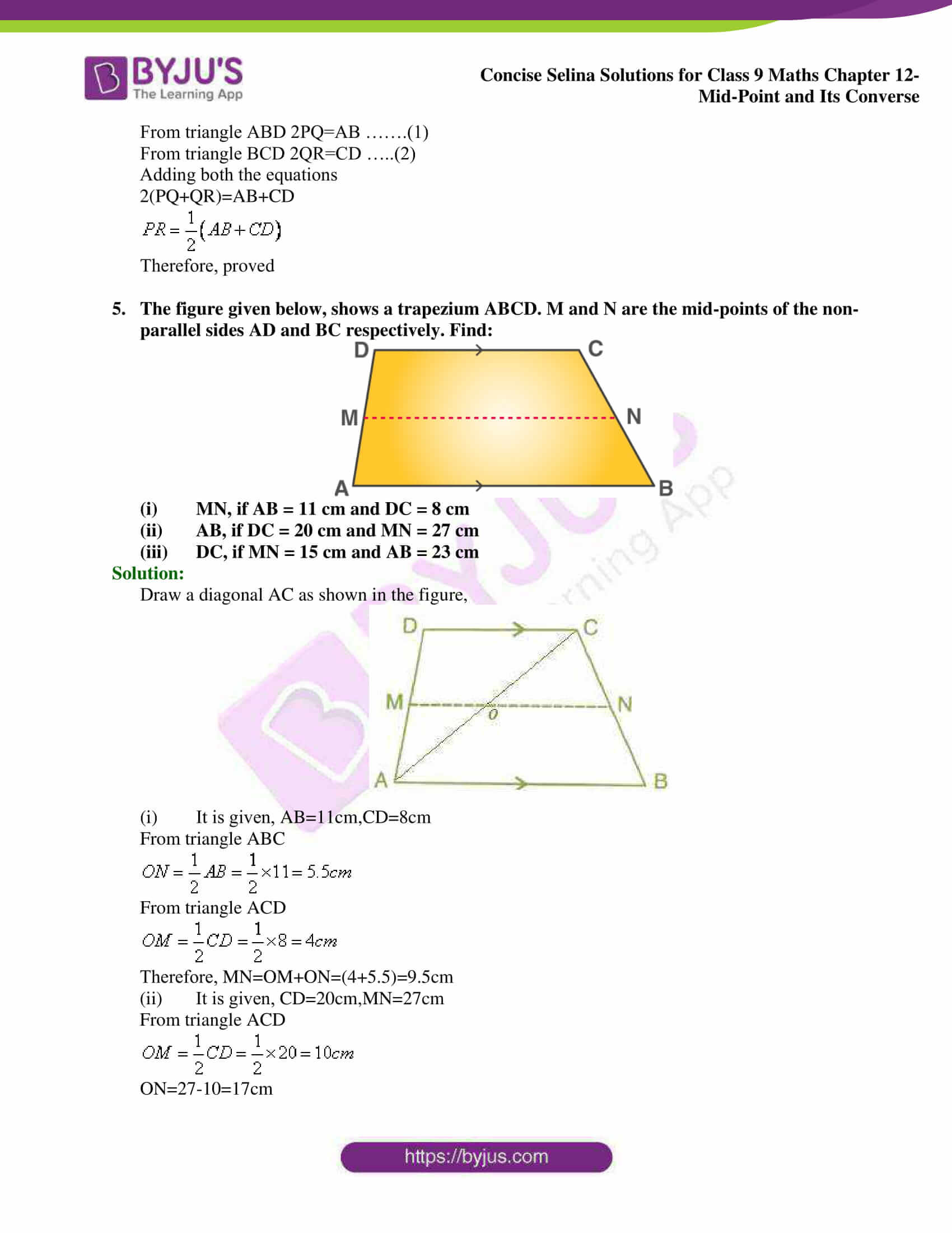 selina Solutions for Class 9 Maths Chapter 12 03