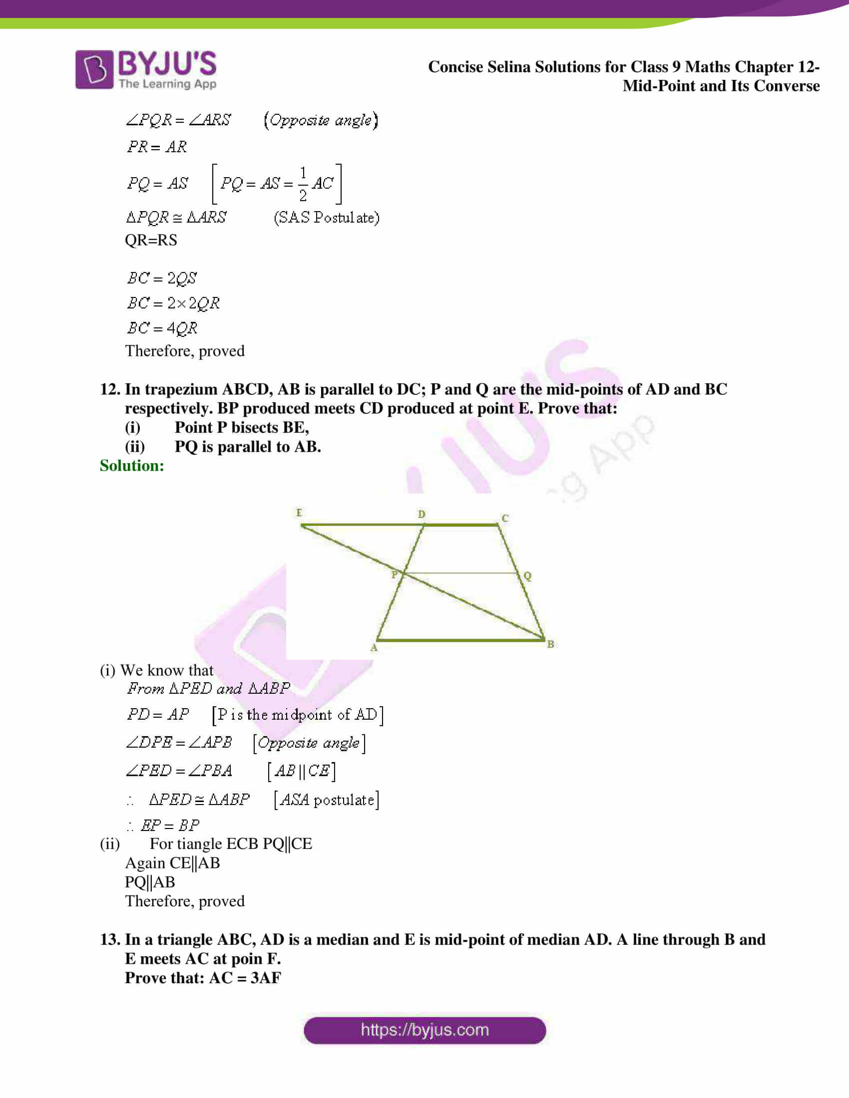 selina Solutions for Class 9 Maths Chapter 12 08
