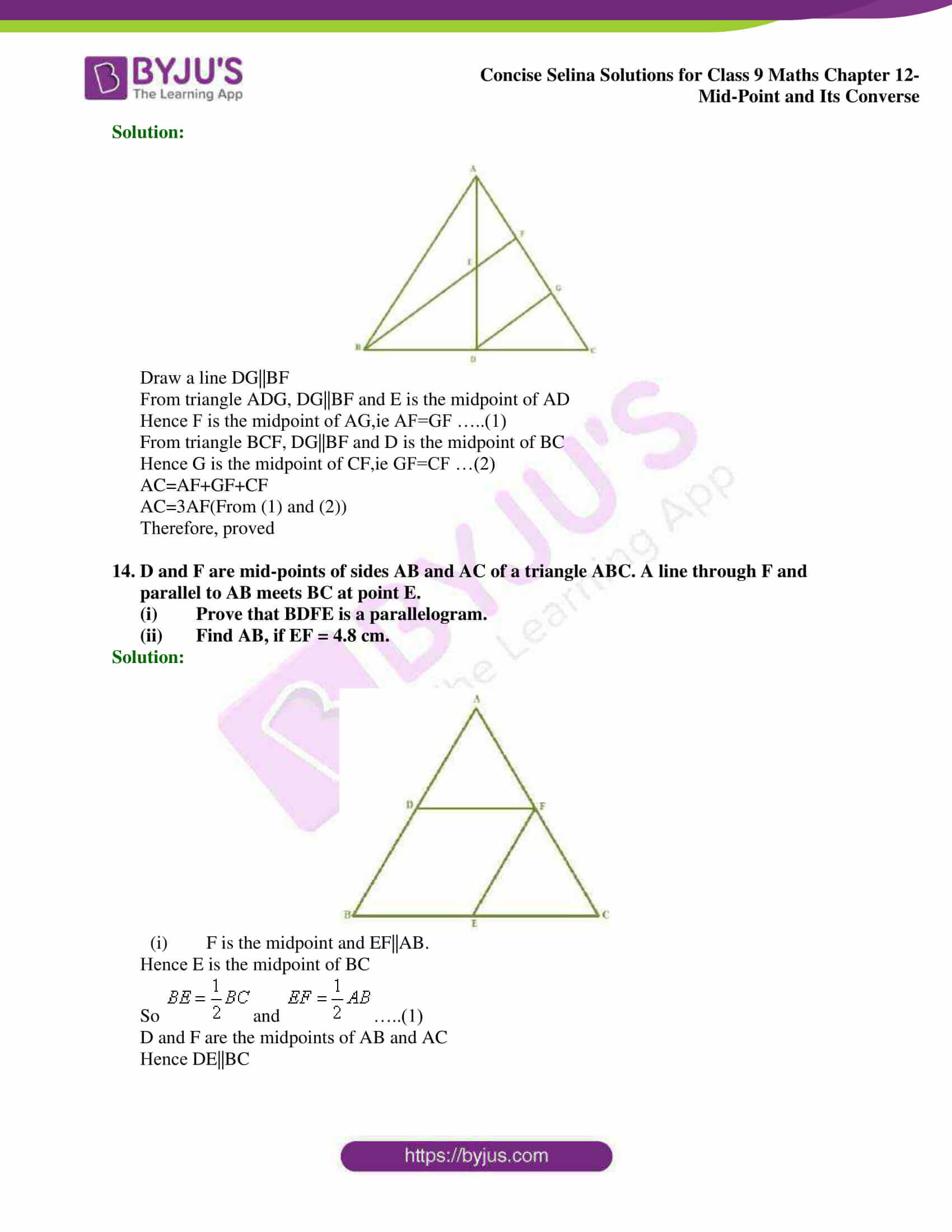 selina Solutions for Class 9 Maths Chapter 12 09