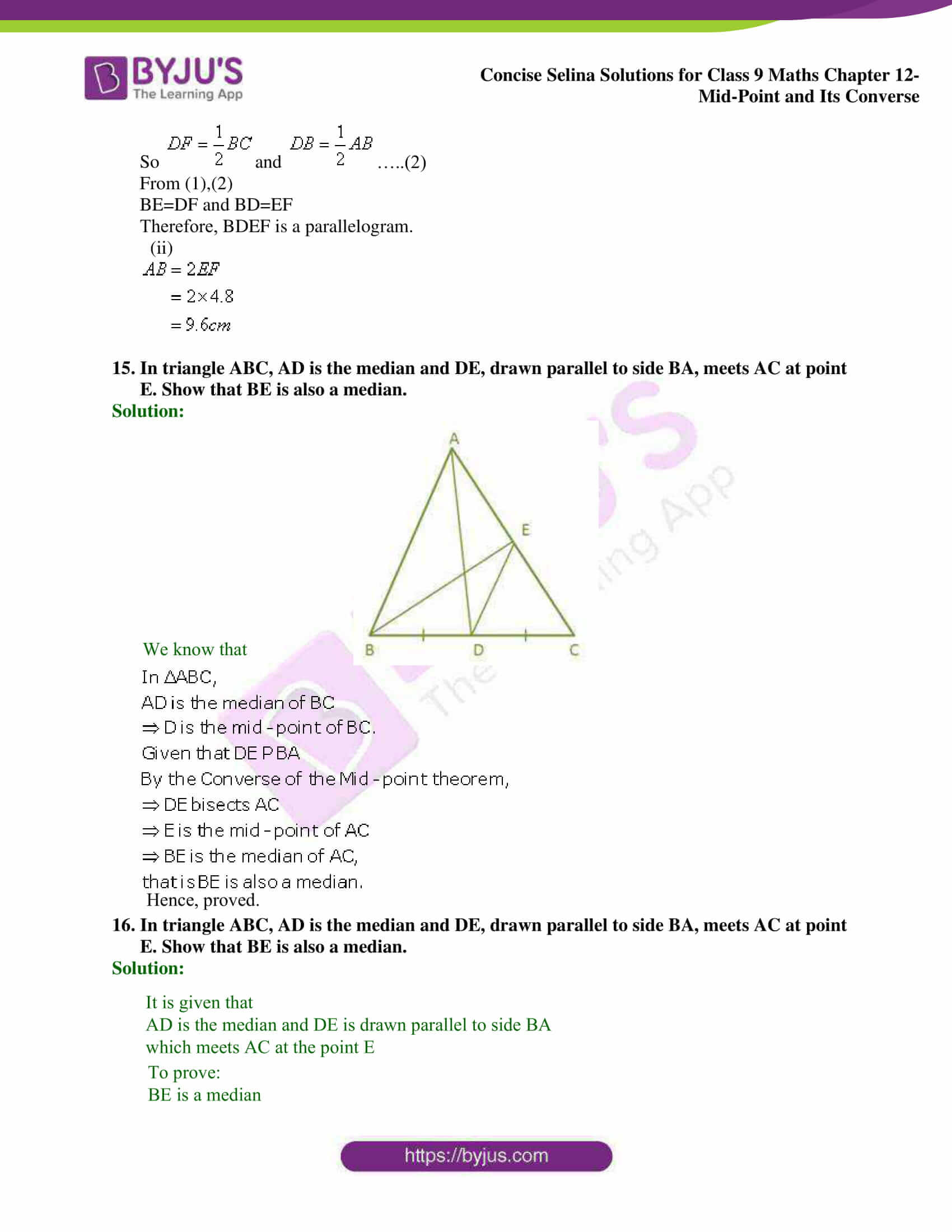 selina Solutions for Class 9 Maths Chapter 12 10