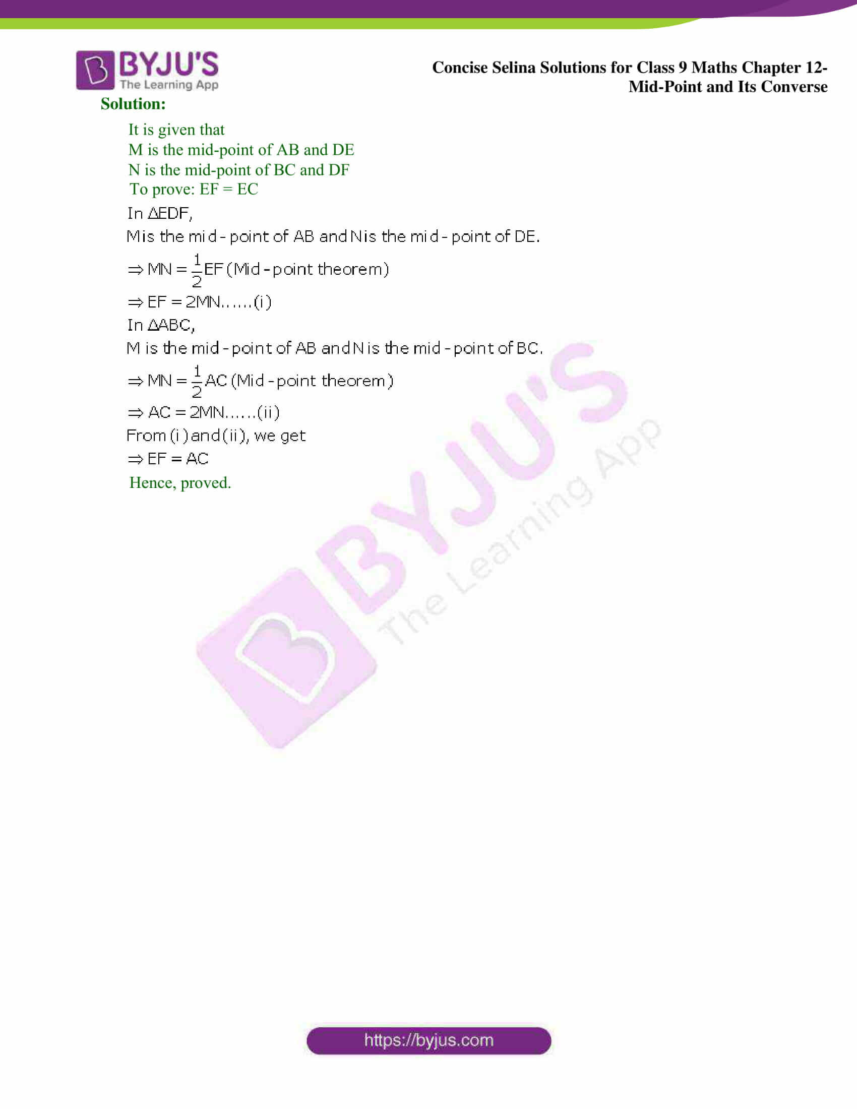 selina Solutions for Class 9 Maths Chapter 12 12