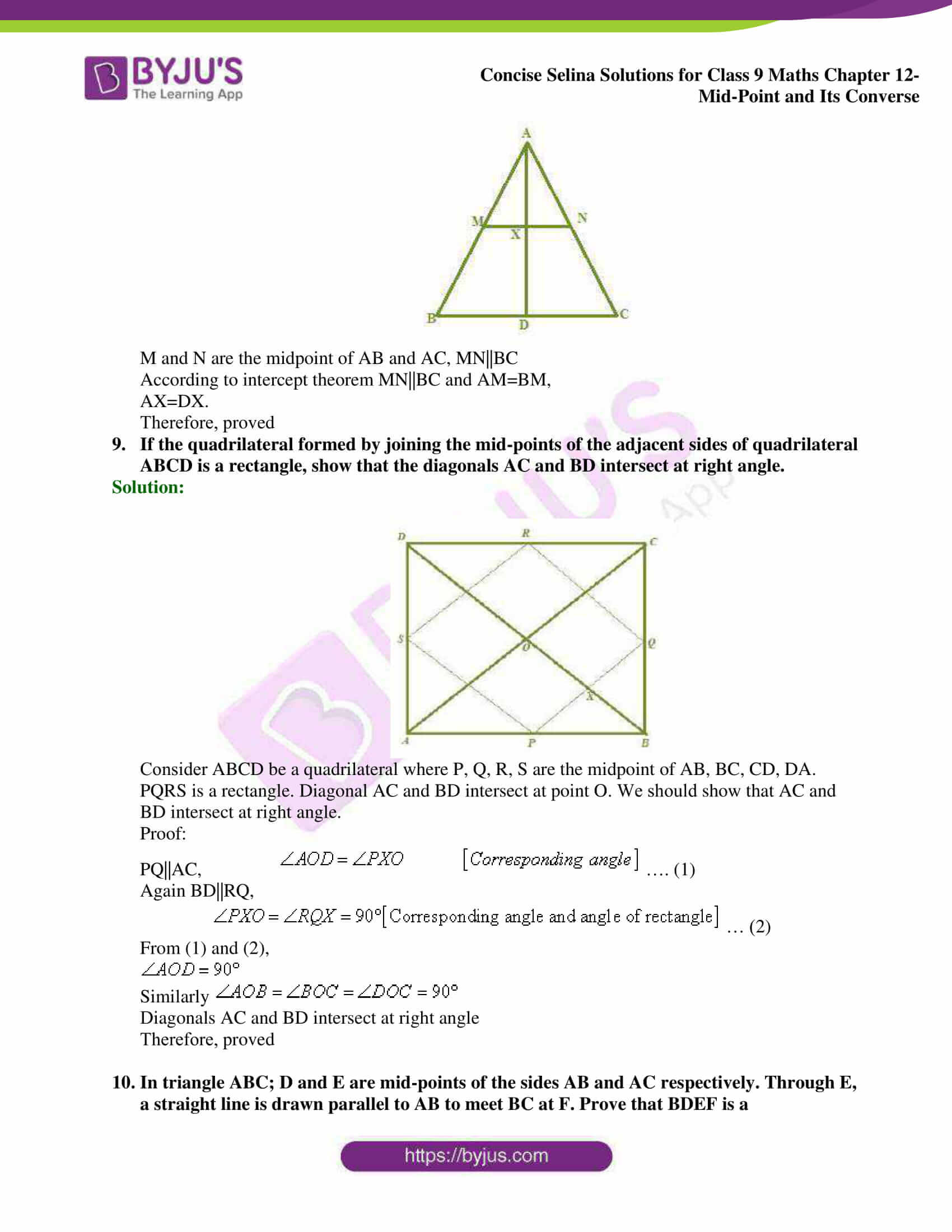selina Solutions for Class 9 Maths Chapter 12 18