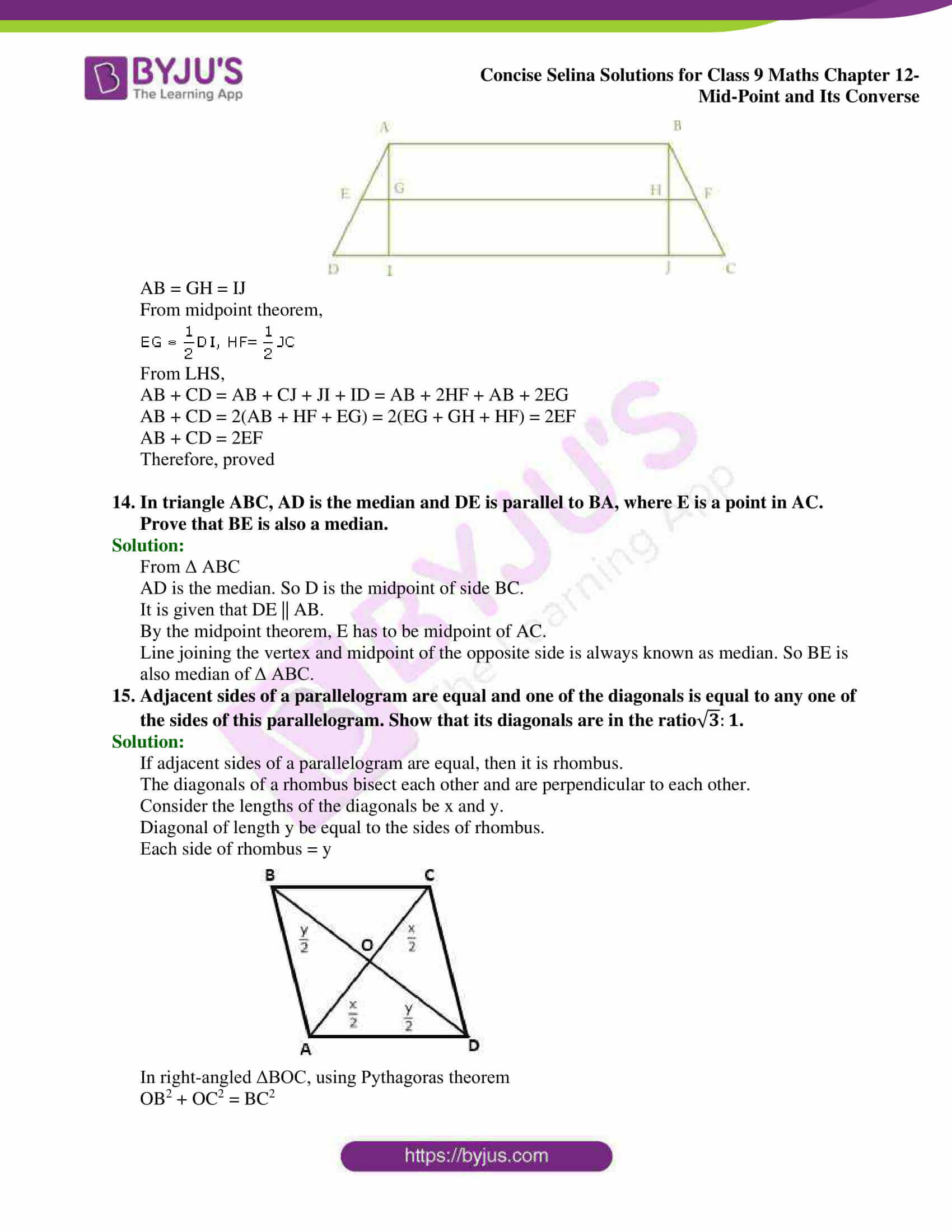 selina Solutions for Class 9 Maths Chapter 12 21