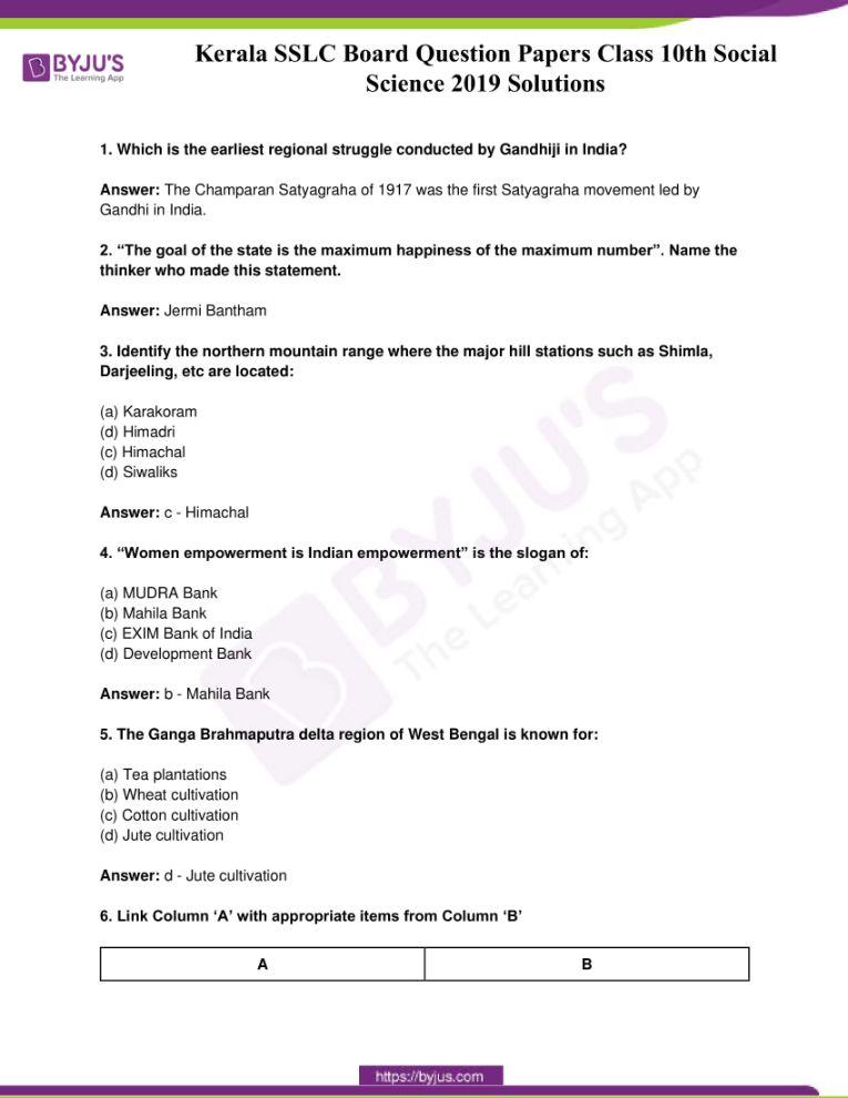 kerala sslc class 10 question paper solutions social science 2019 01