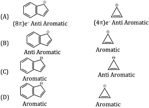 KVPY-SA 2018 Chemistry Paper with answers Q10