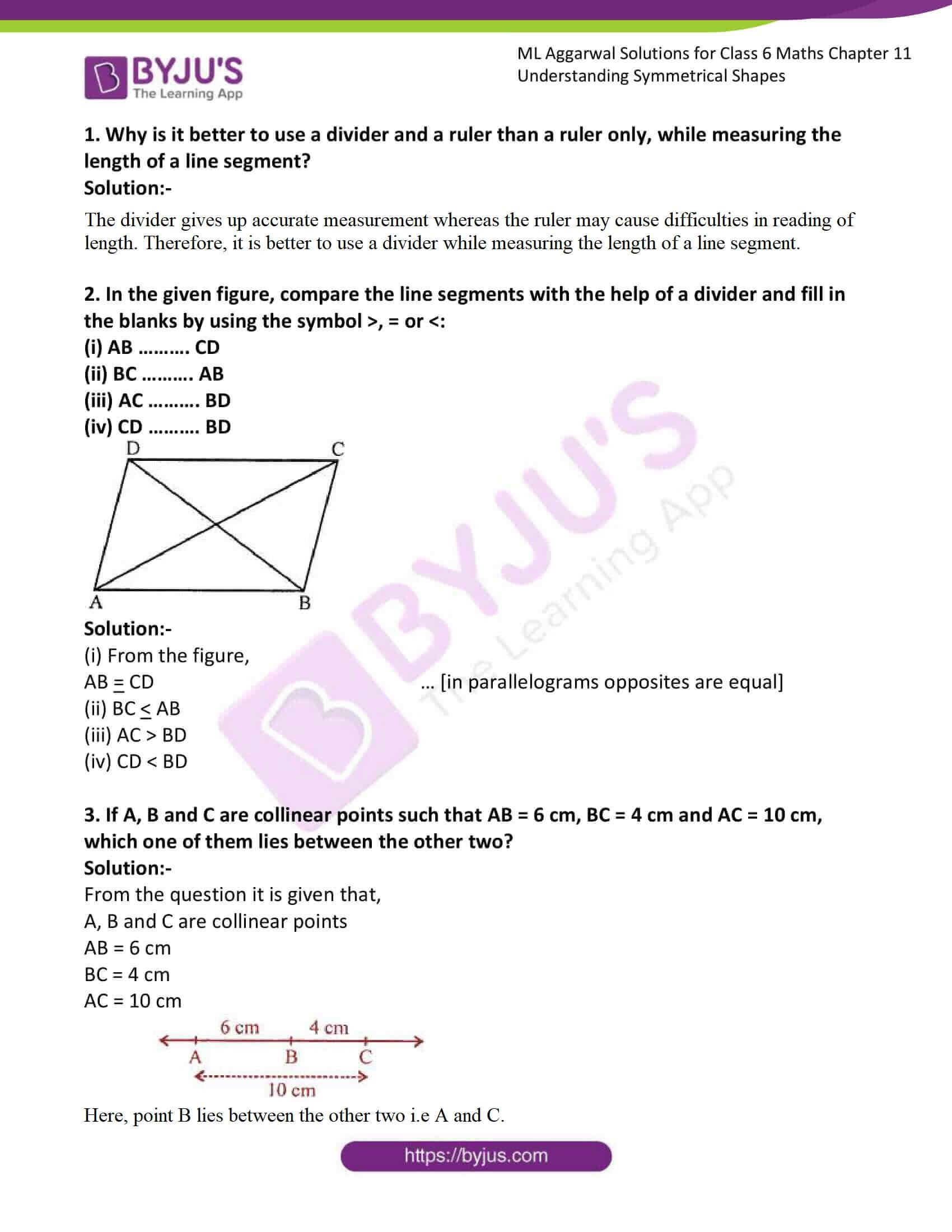 ml aggarwal sol class 6 maths chapter 11 1