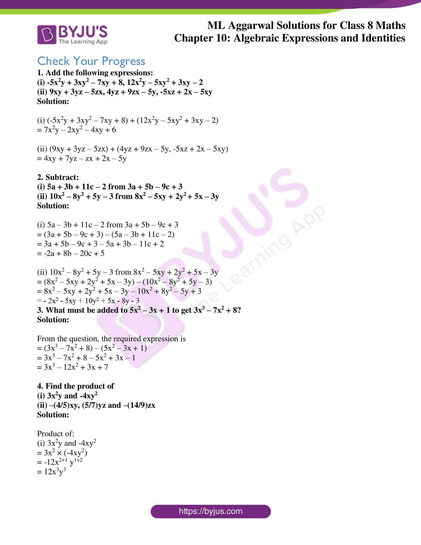 ml aggarwal sol mathematics class 8 ch 10 26