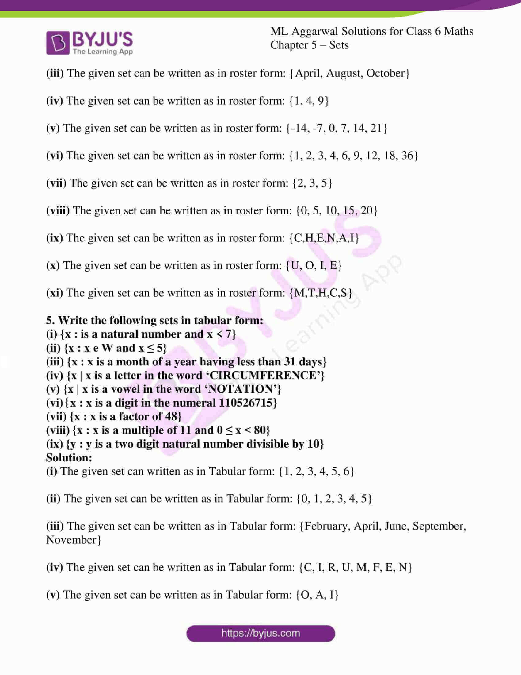 ml aggarwal solutions for class 6 maths chapter 5 4