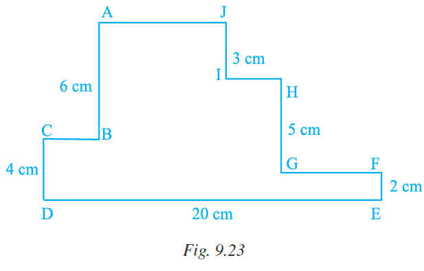 NCERT Exemplar Class 7 Maths Solutions Chapter 9 Perimeter and Area Image 12