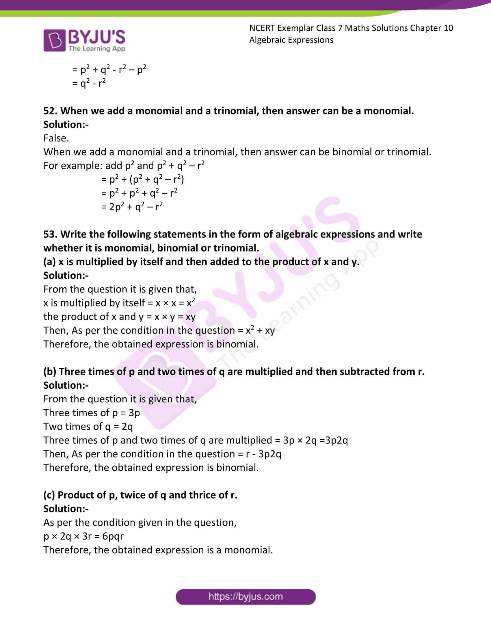 ncert exemplar class 7 maths solutions chapter 10 11