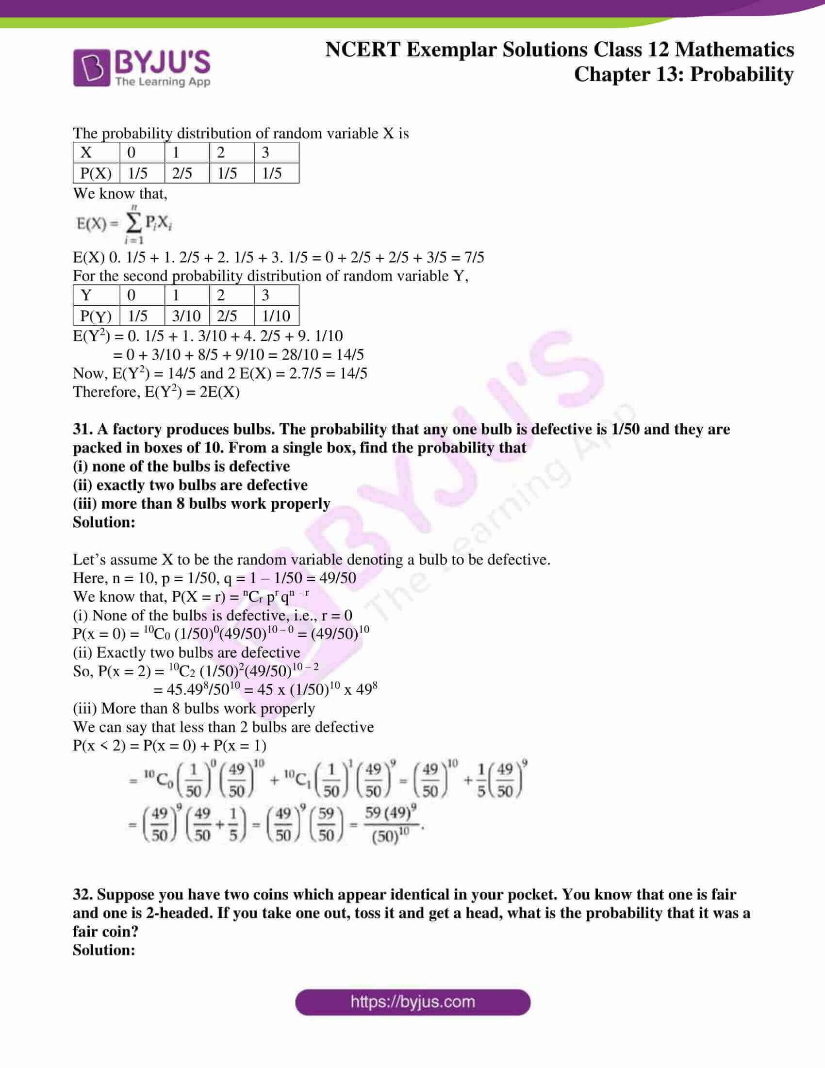 ncert exemplar sol class 12 mathematics chapter 13 13