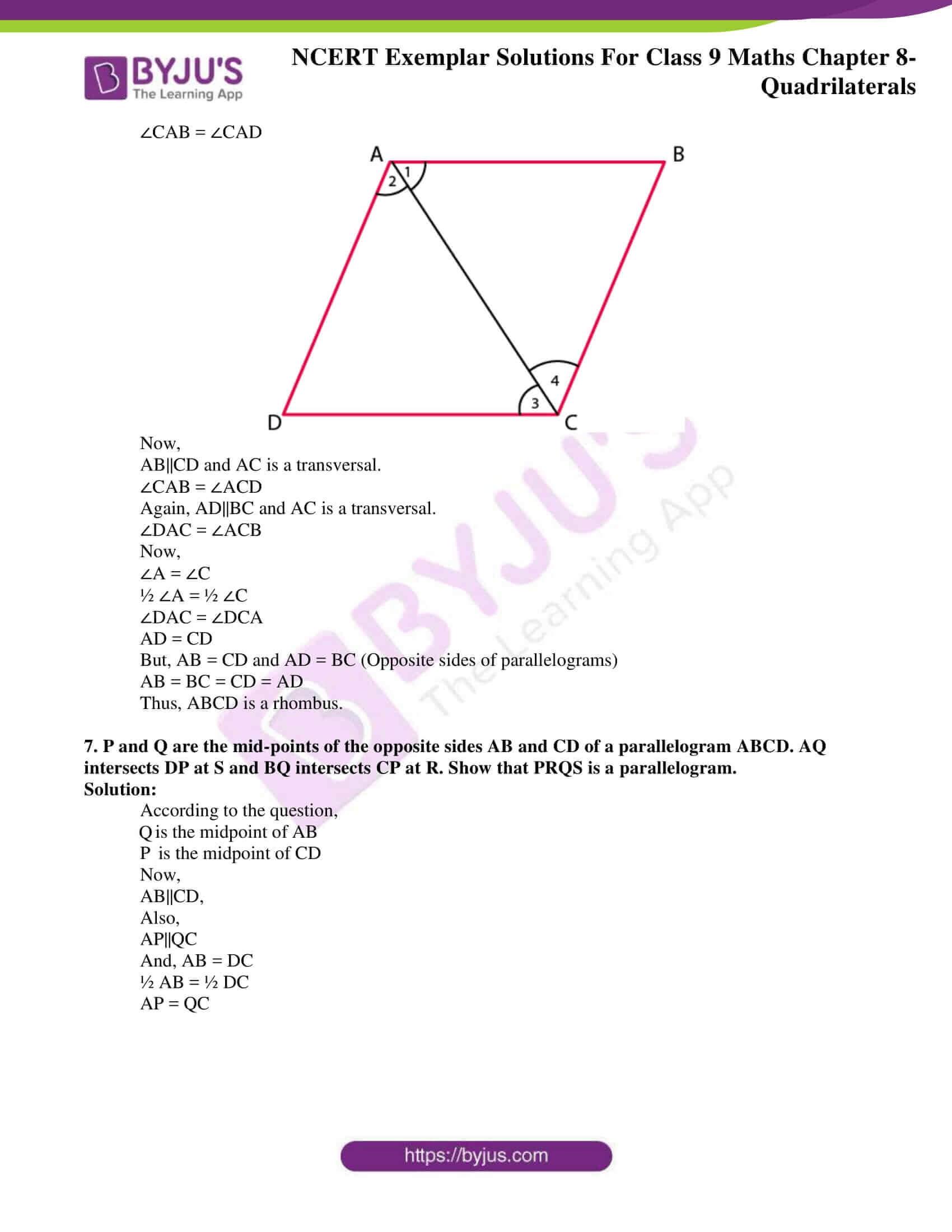 ncert exemplar solution class 9 maths chapter 8