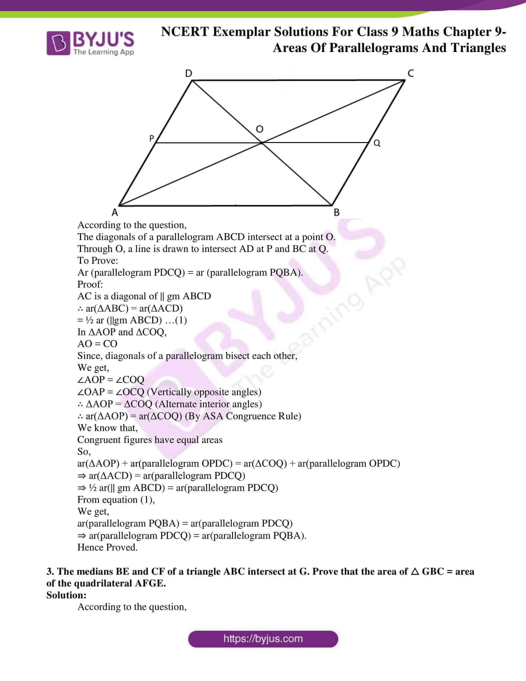 ncert exemplar solution class 9 maths chapter 9