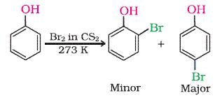 Phenol is treaded with aq. Br