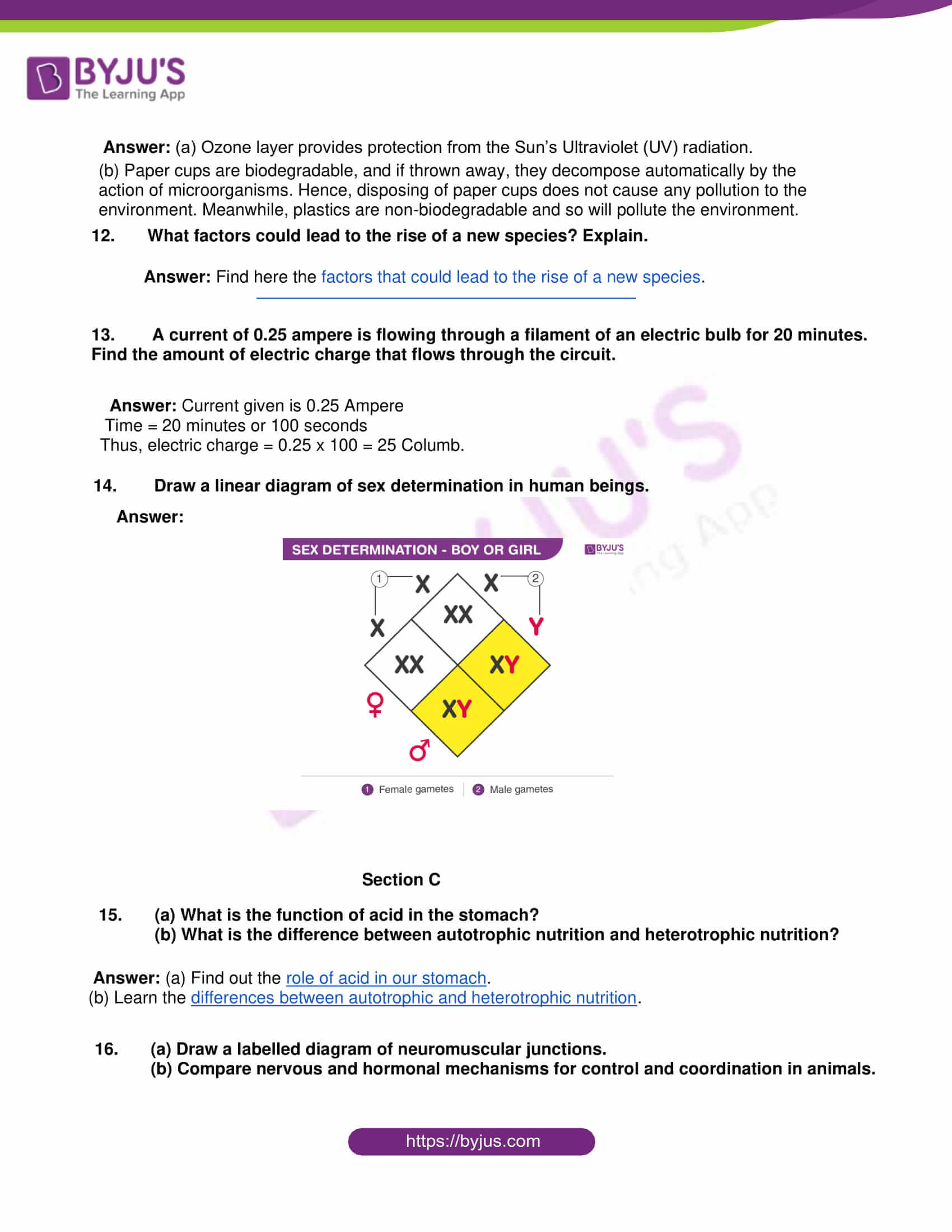 rajasthan board class 10 general science 2015 solutions 03