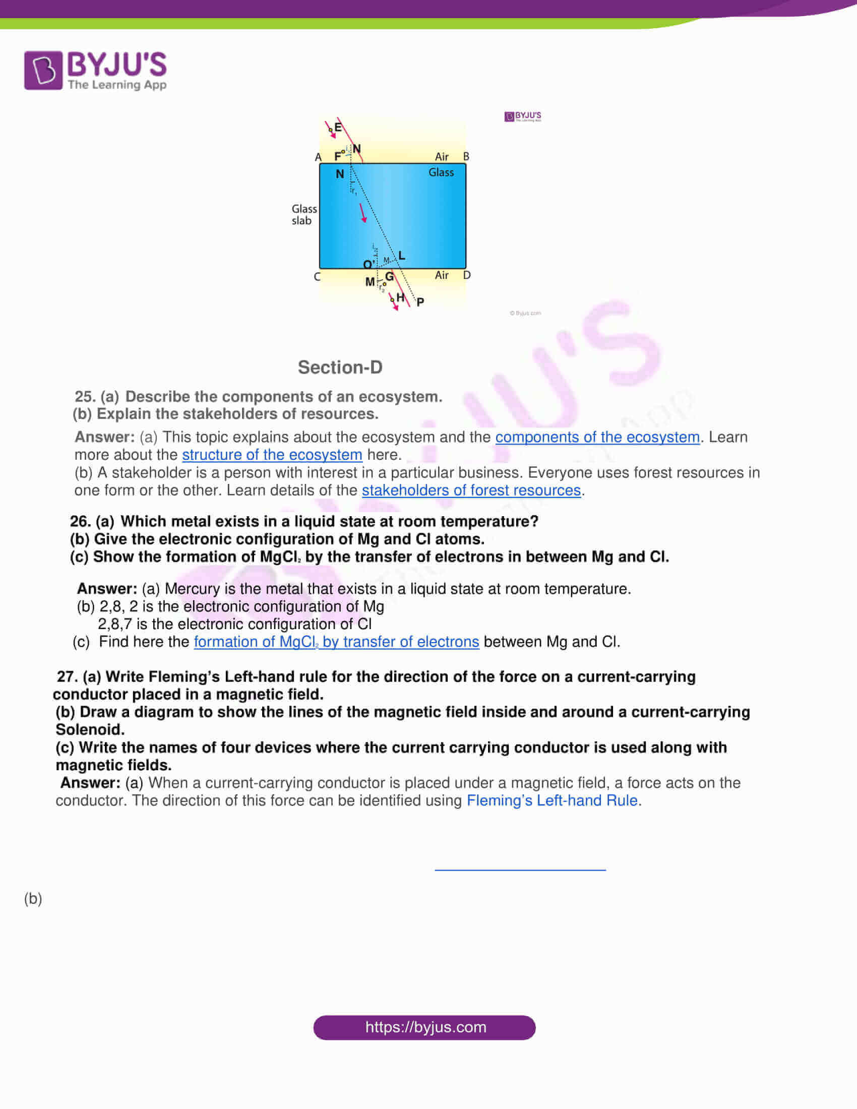 rajasthan board class 10 general science 2015 solutions 07