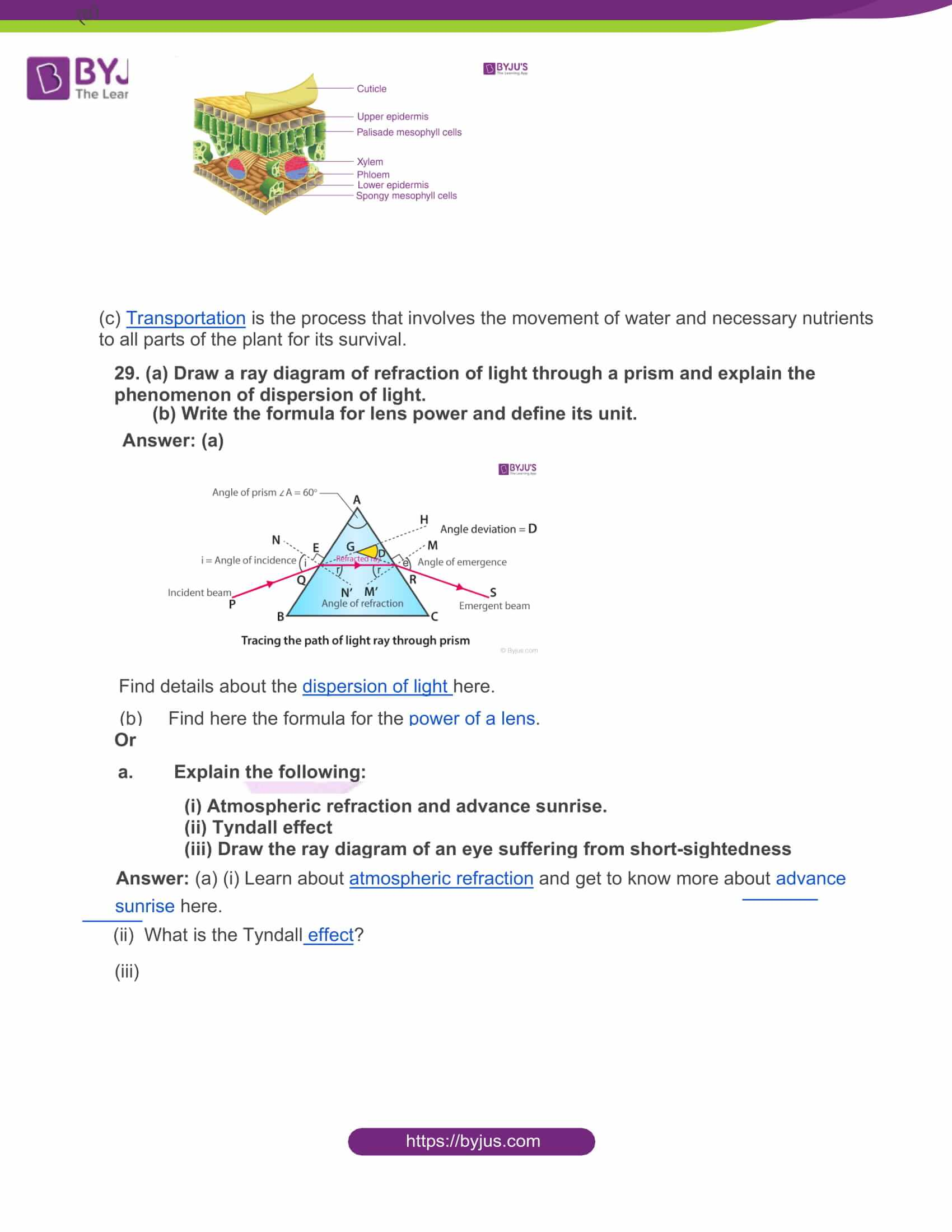 rajasthan board class 10 general science 2016 solutions 10