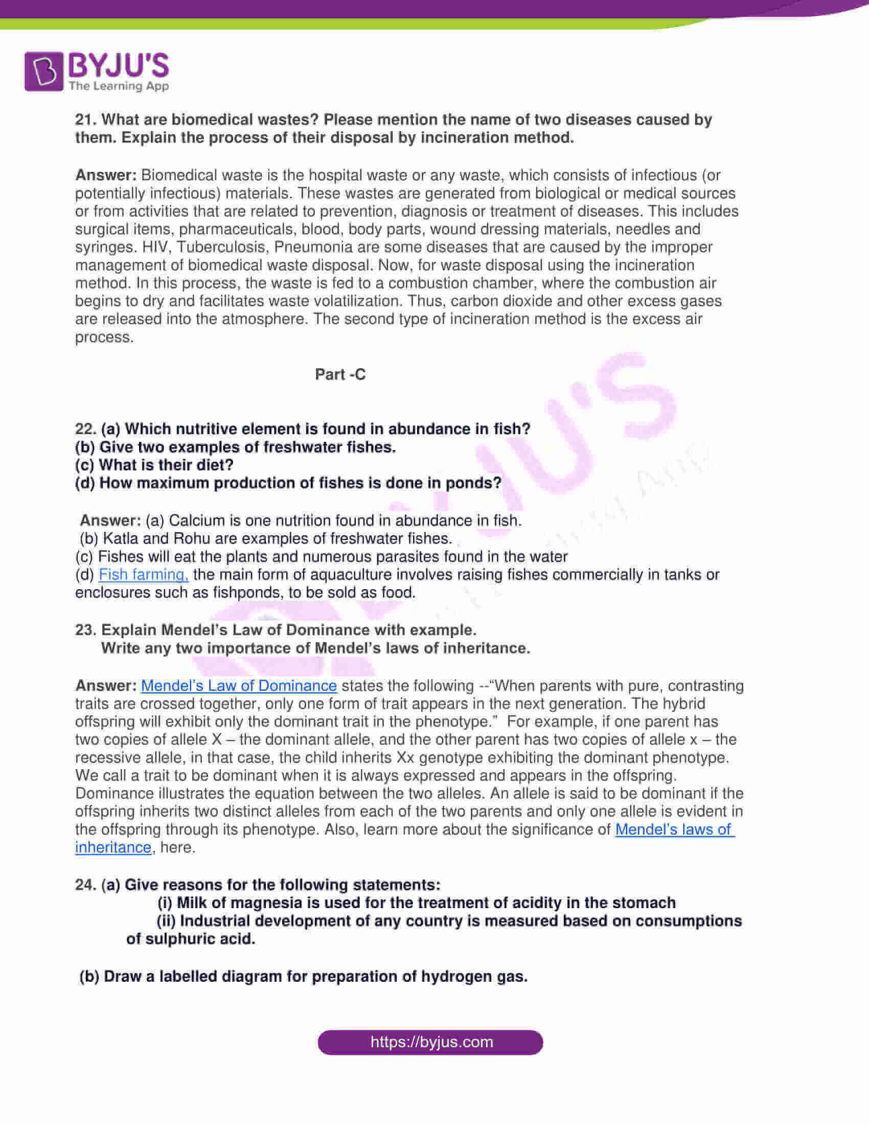 rajasthan board class 10 general science 2019 solutions 05