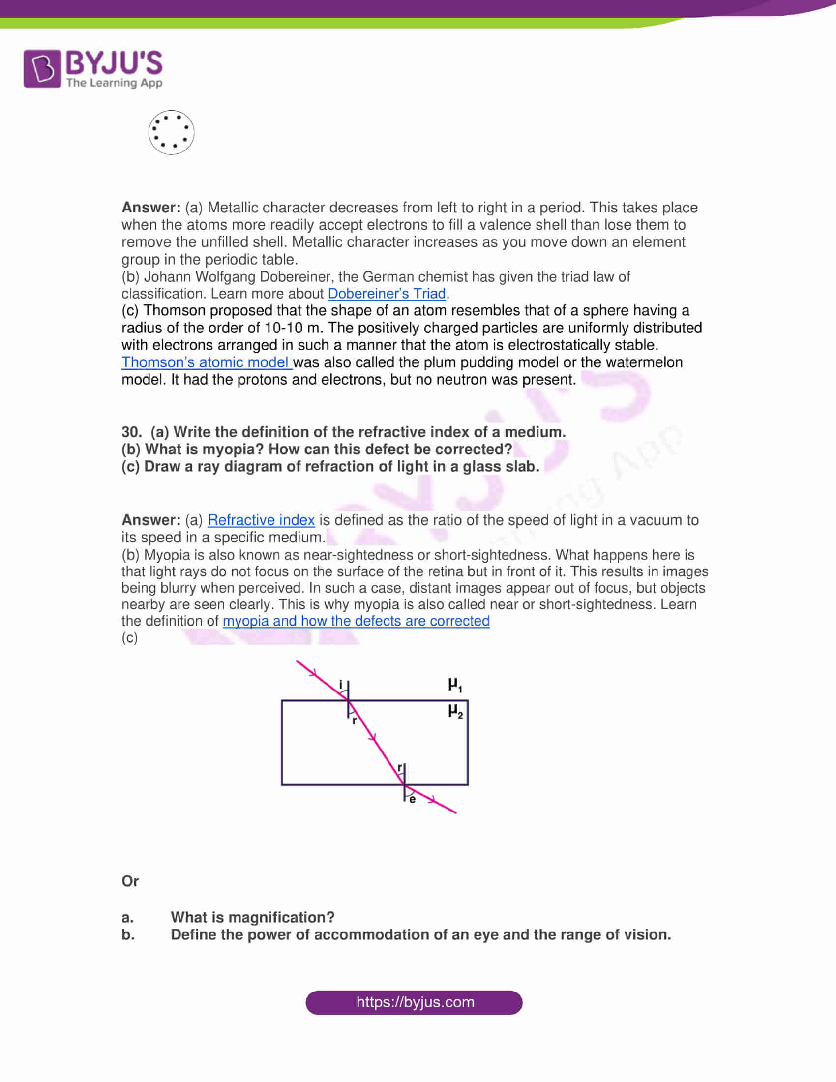 rajasthan board class 10 general science 2019 solutions 10