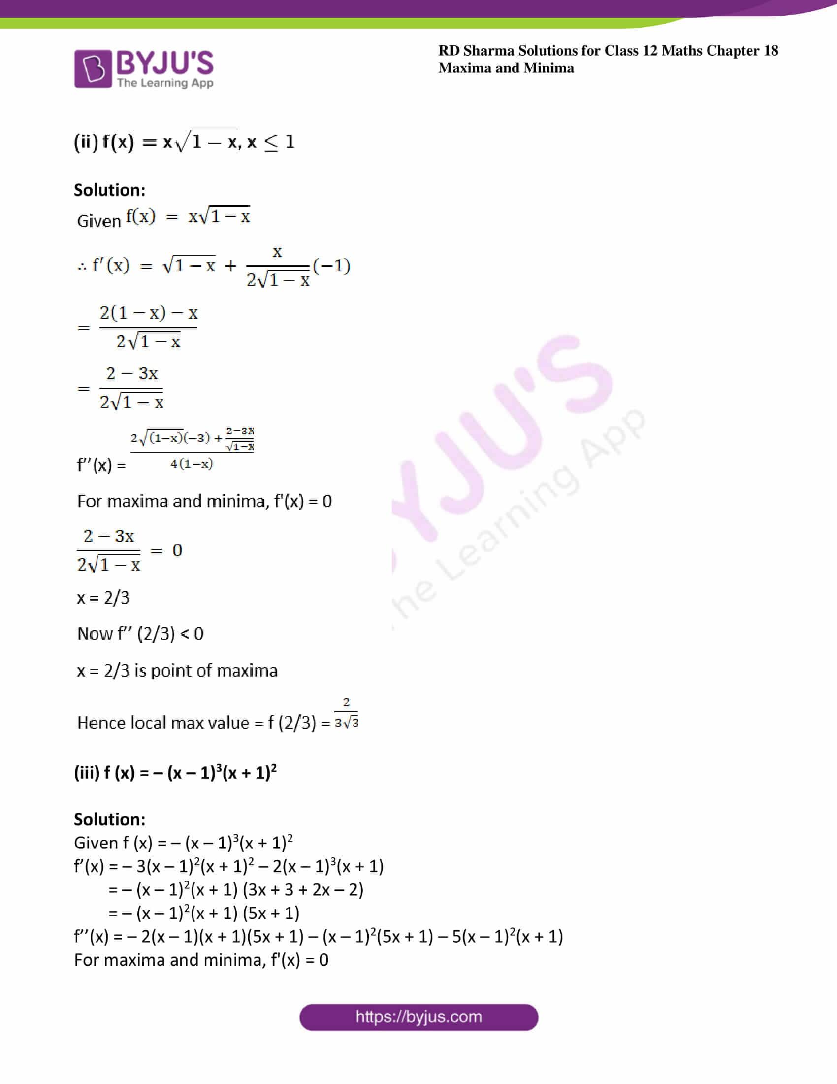 rd sharma class 12 maths solutions chapter 18 ex 3 4