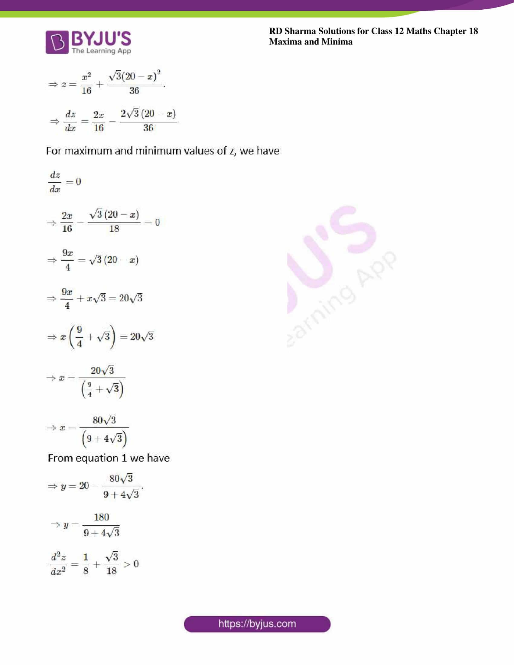 rd sharma class 12 maths solutions chapter 18 ex 5 10