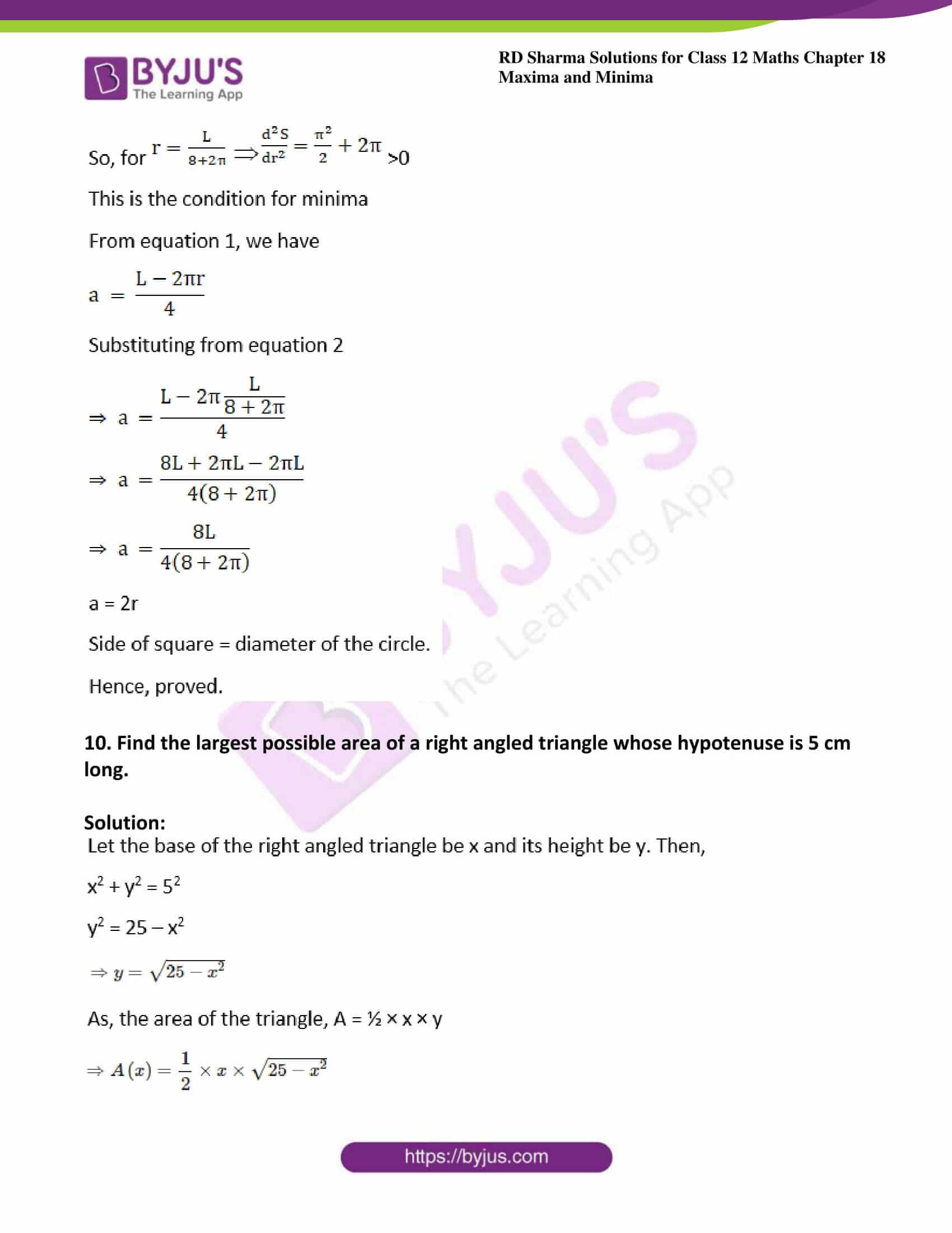 rd sharma class 12 maths solutions chapter 18 ex 5 12