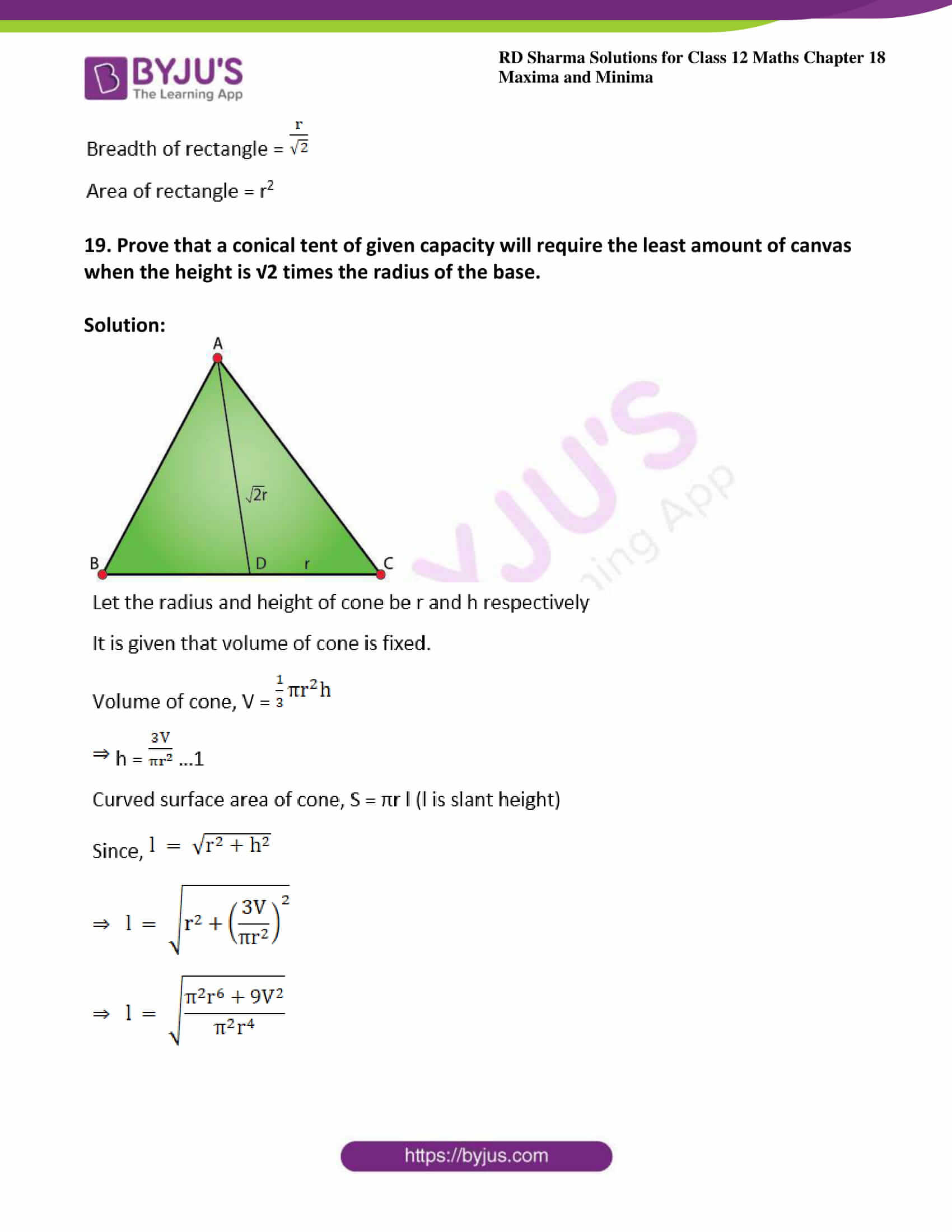 rd sharma class 12 maths solutions chapter 18 ex 5 26