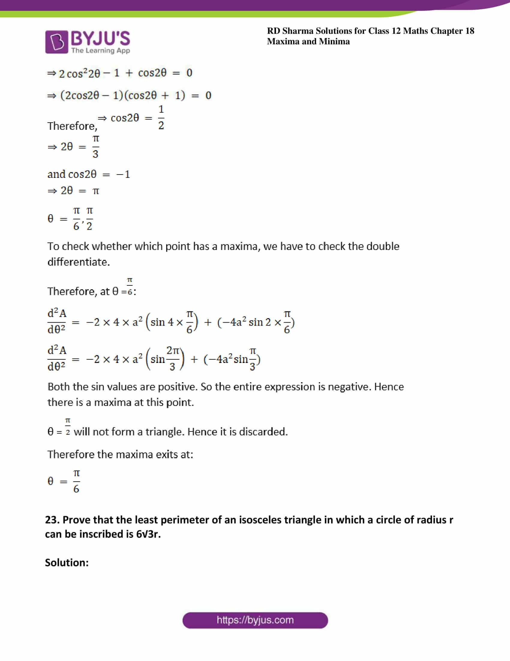 rd sharma class 12 maths solutions chapter 18 ex 5 34