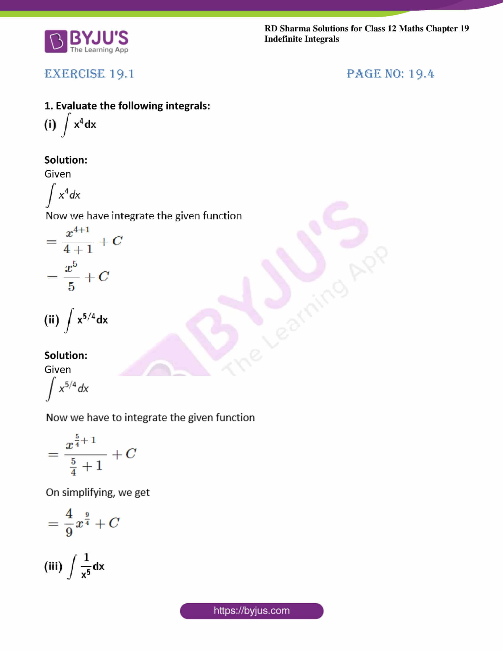 rd sharma class 12 maths solutions chapter 19 ex 1 1