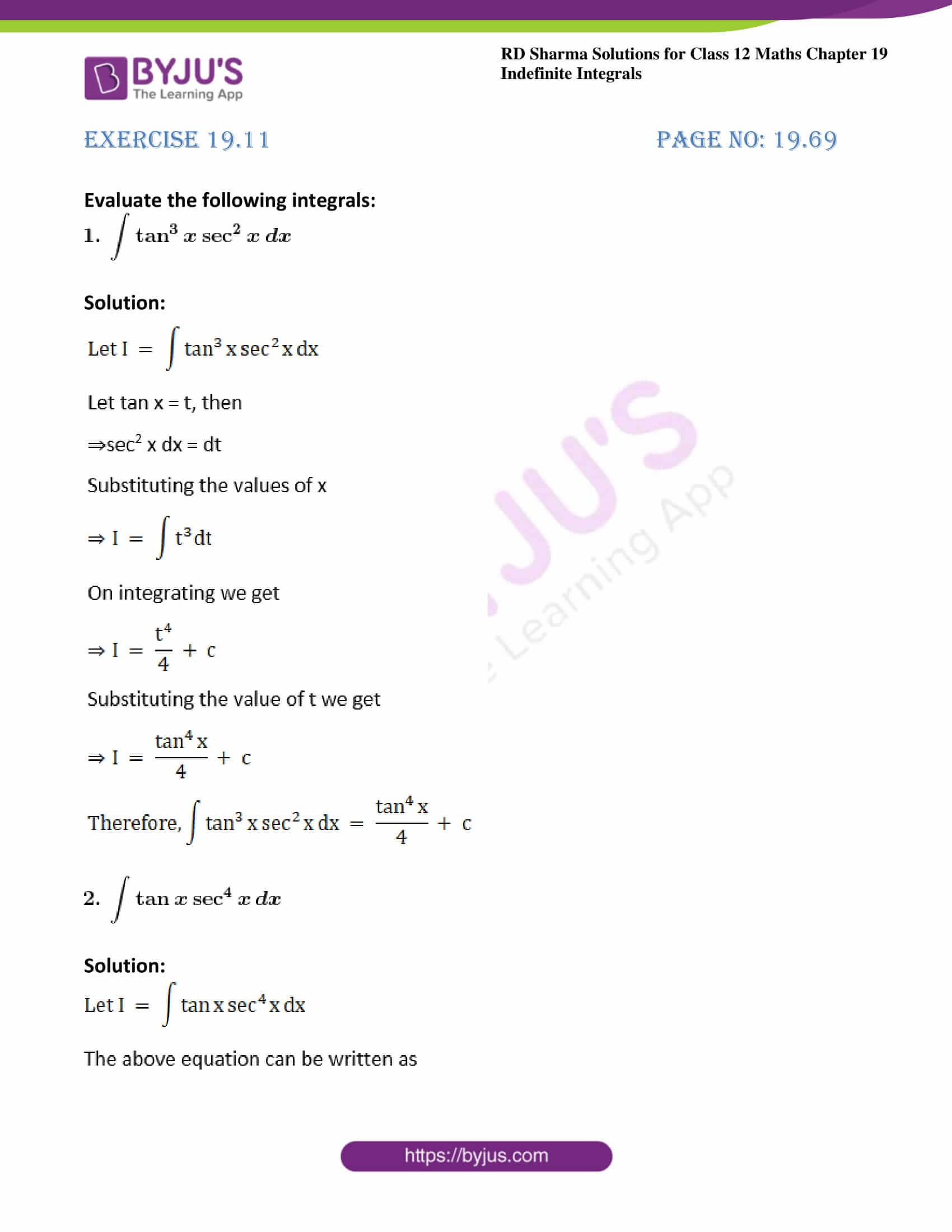 rd sharma class 12 maths solutions chapter 19 ex 11 1