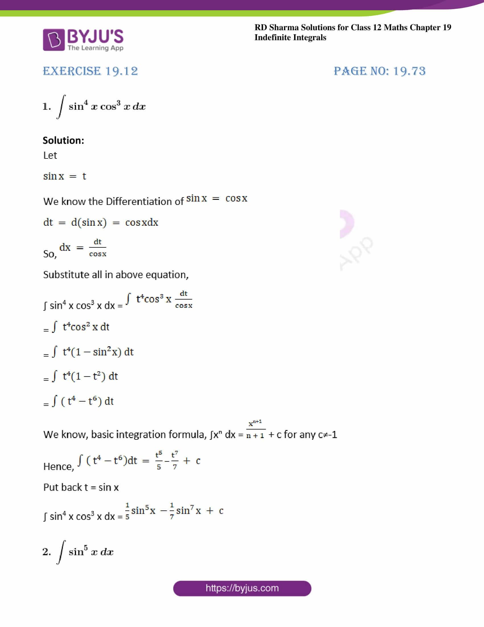 rd sharma class 12 maths solutions chapter 19 ex 12 1