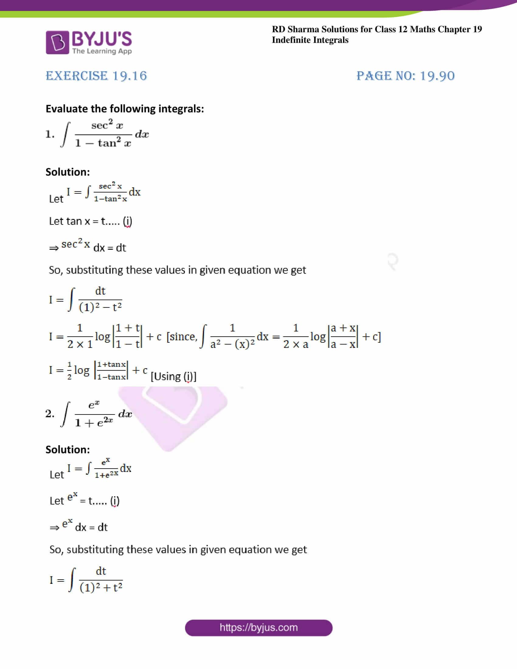 rd sharma class 12 maths solutions chapter 19 ex 16 1