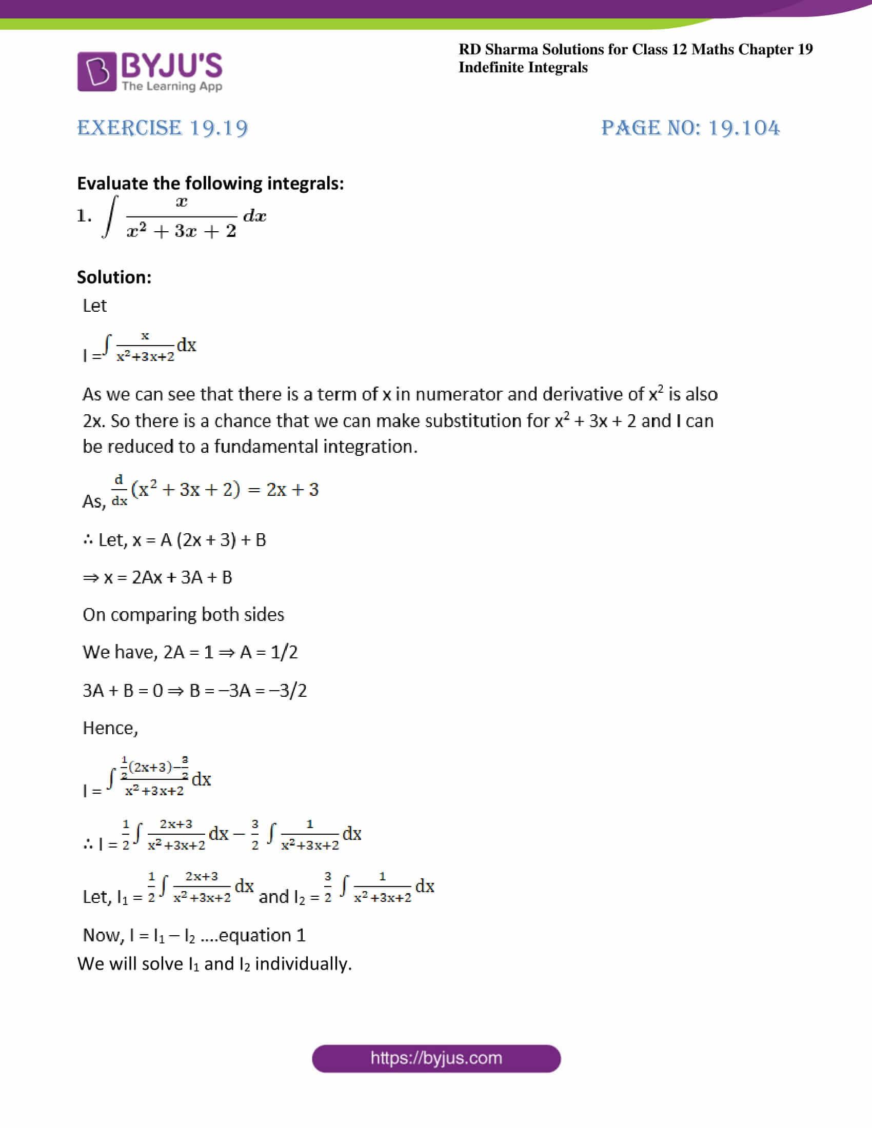 rd sharma class 12 maths solutions chapter 19 ex 19 01