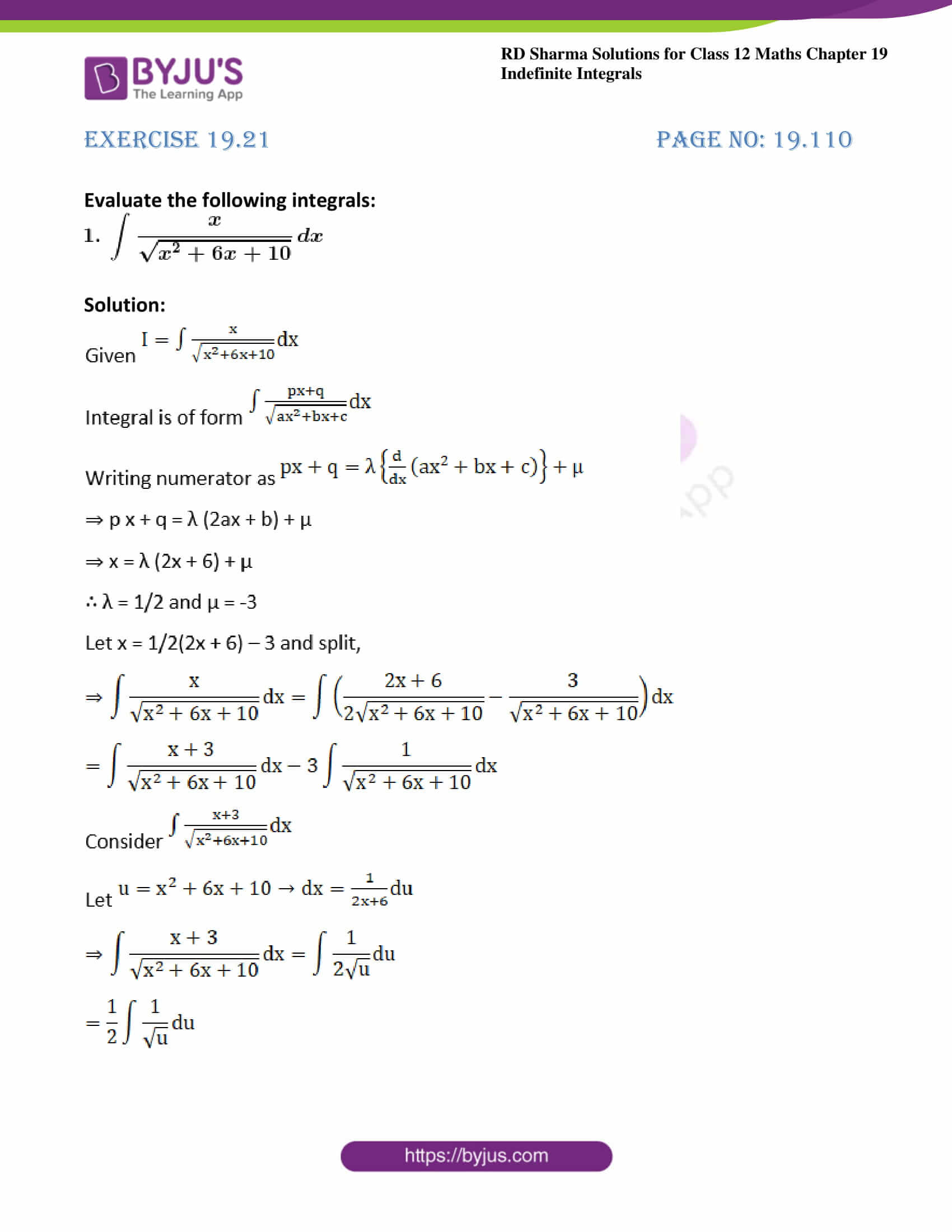 rd sharma class 12 maths solutions chapter 19 ex 21 1