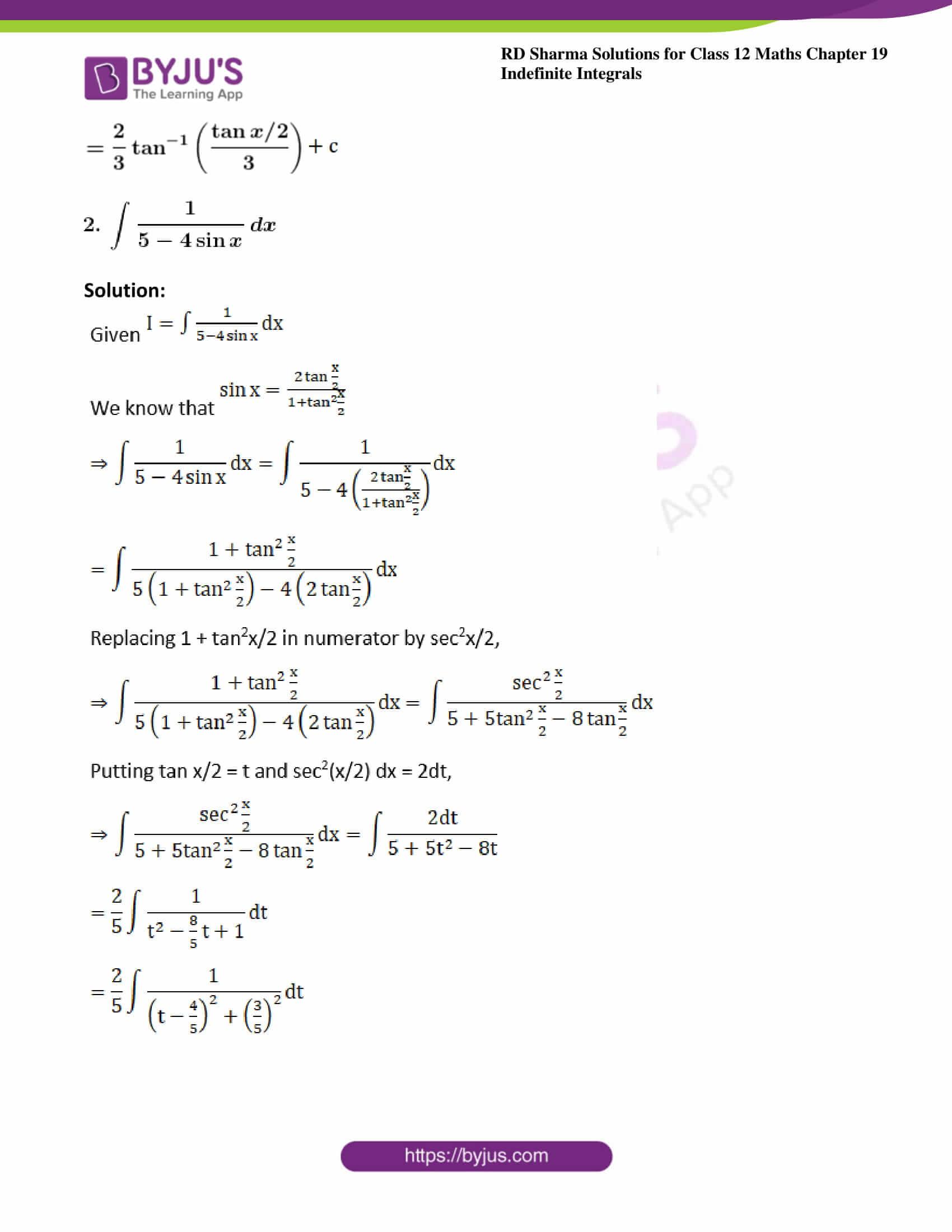 rd sharma class 12 maths solutions chapter 19 ex 23 2