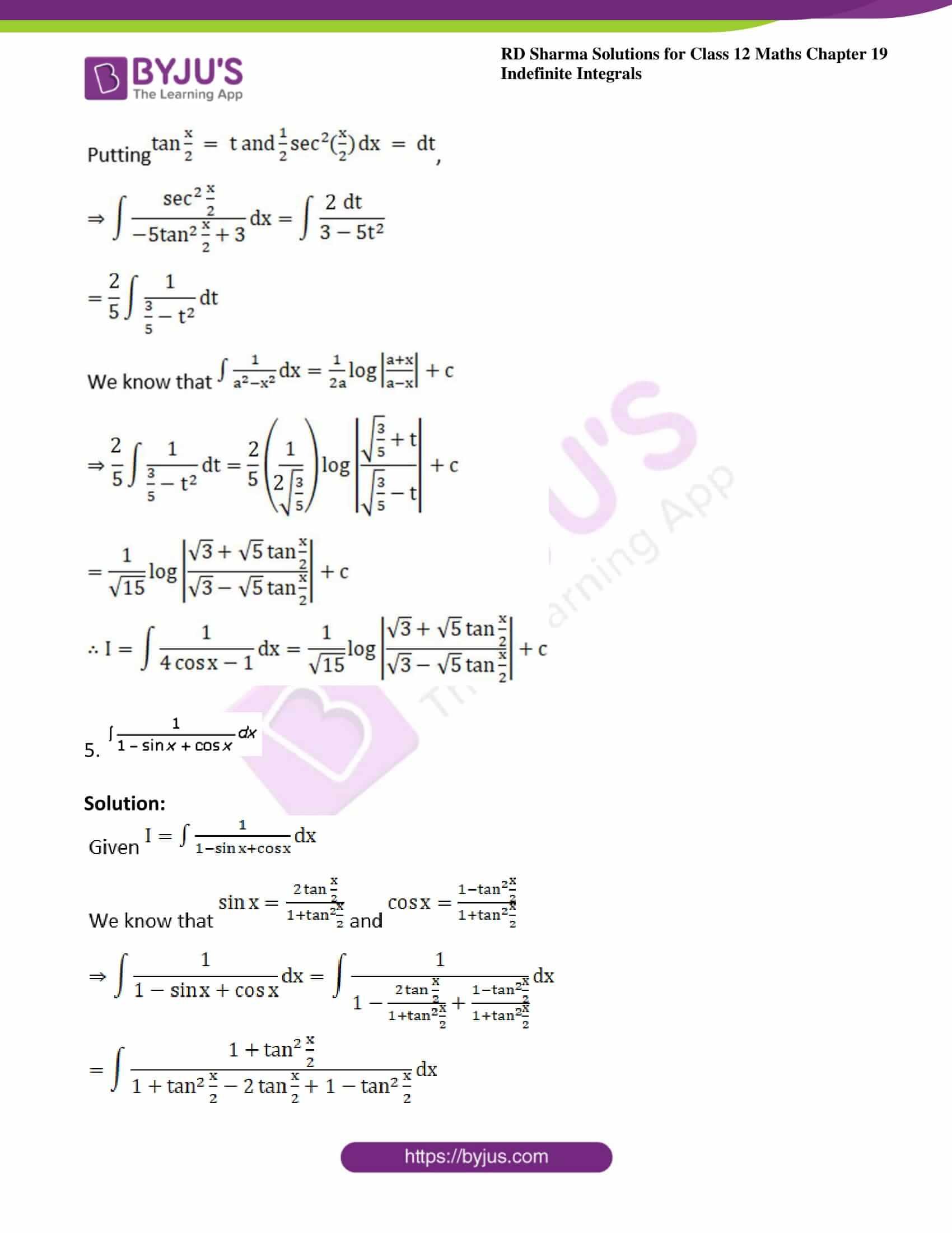 rd sharma class 12 maths solutions chapter 19 ex 23 5