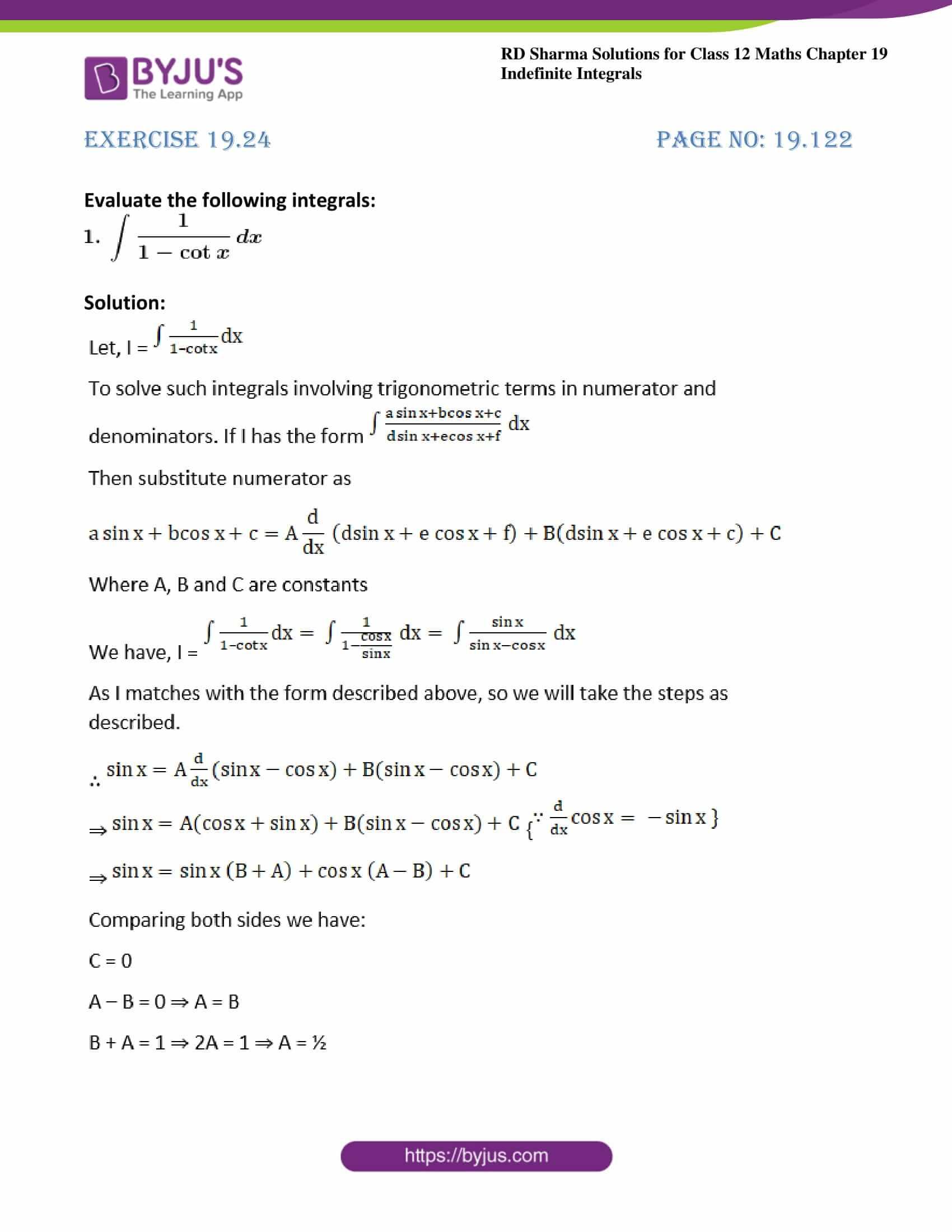 rd sharma class 12 maths solutions chapter 19 ex 24 01