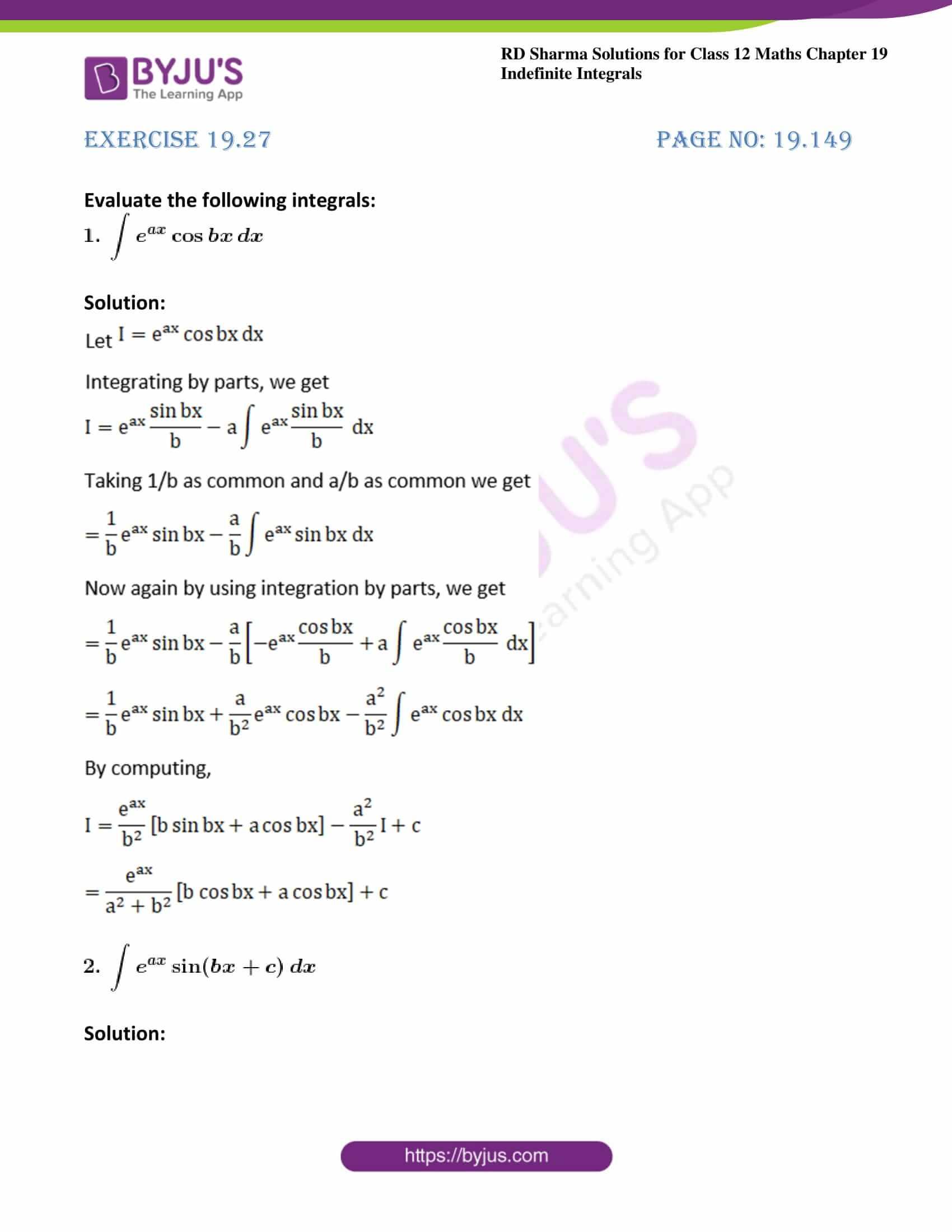 rd sharma class 12 maths solutions chapter 19 ex 27 1
