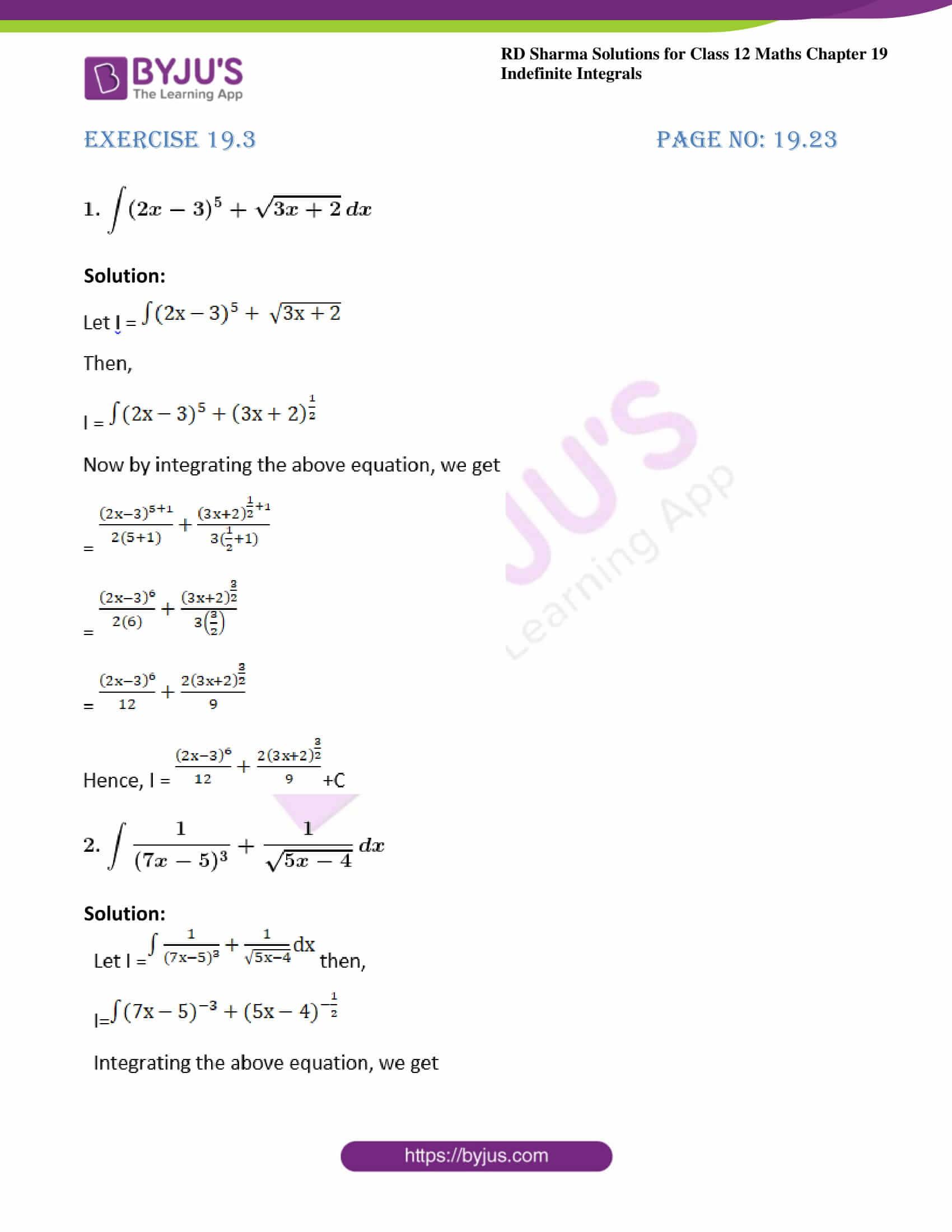 rd sharma class 12 maths solutions chapter 19 ex 3 1