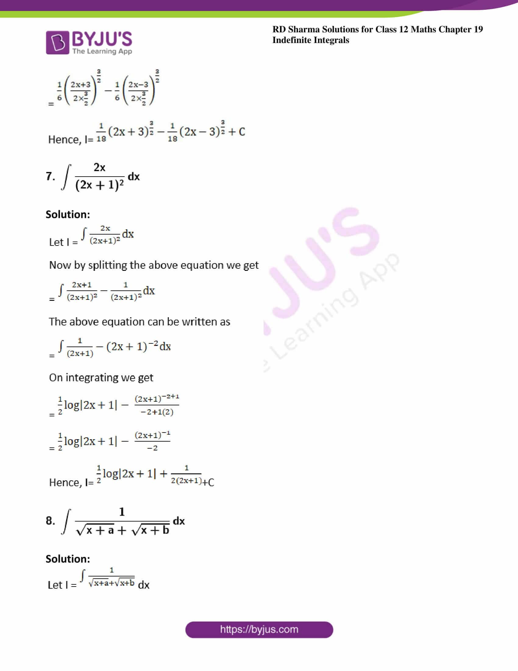 rd sharma class 12 maths solutions chapter 19 ex 3 5