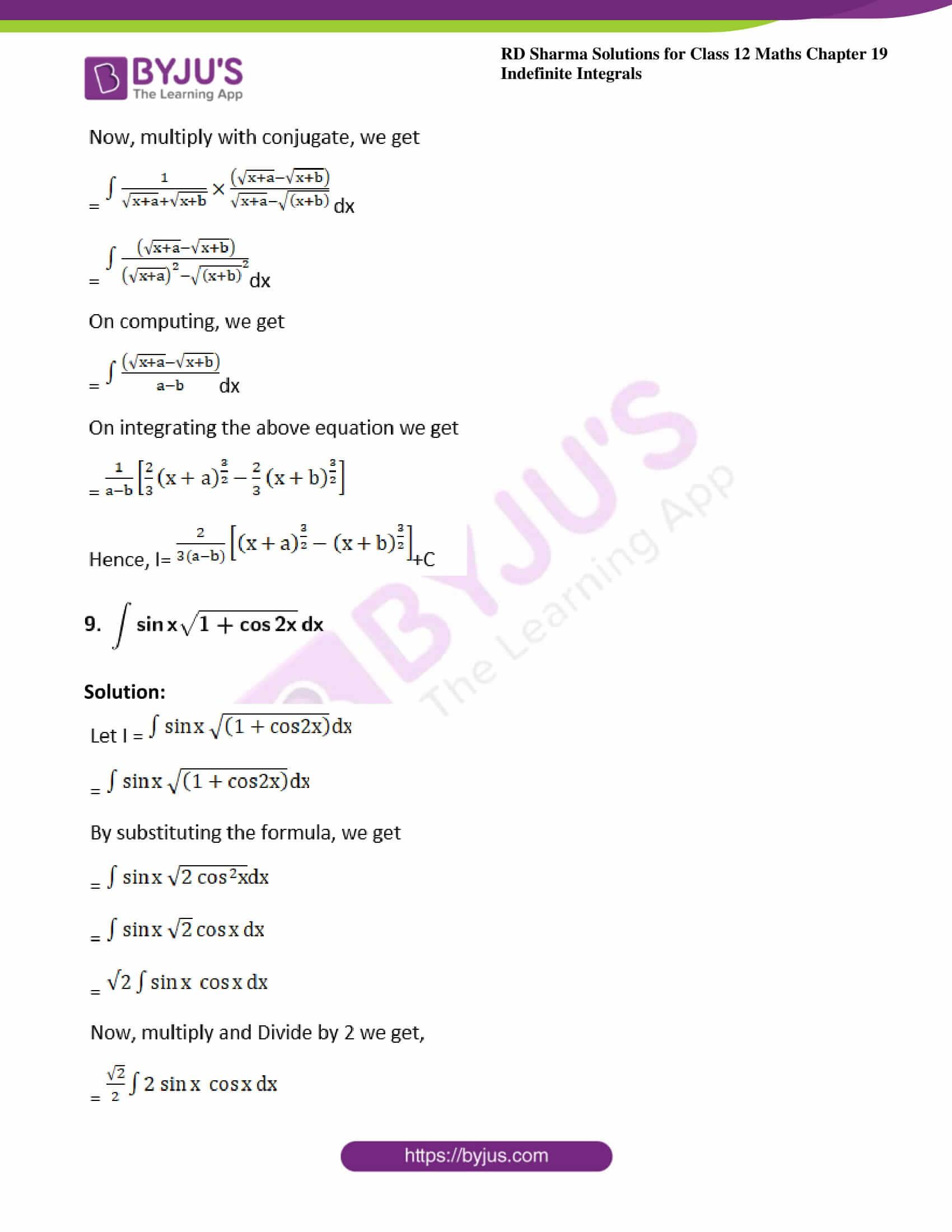 rd sharma class 12 maths solutions chapter 19 ex 3 6
