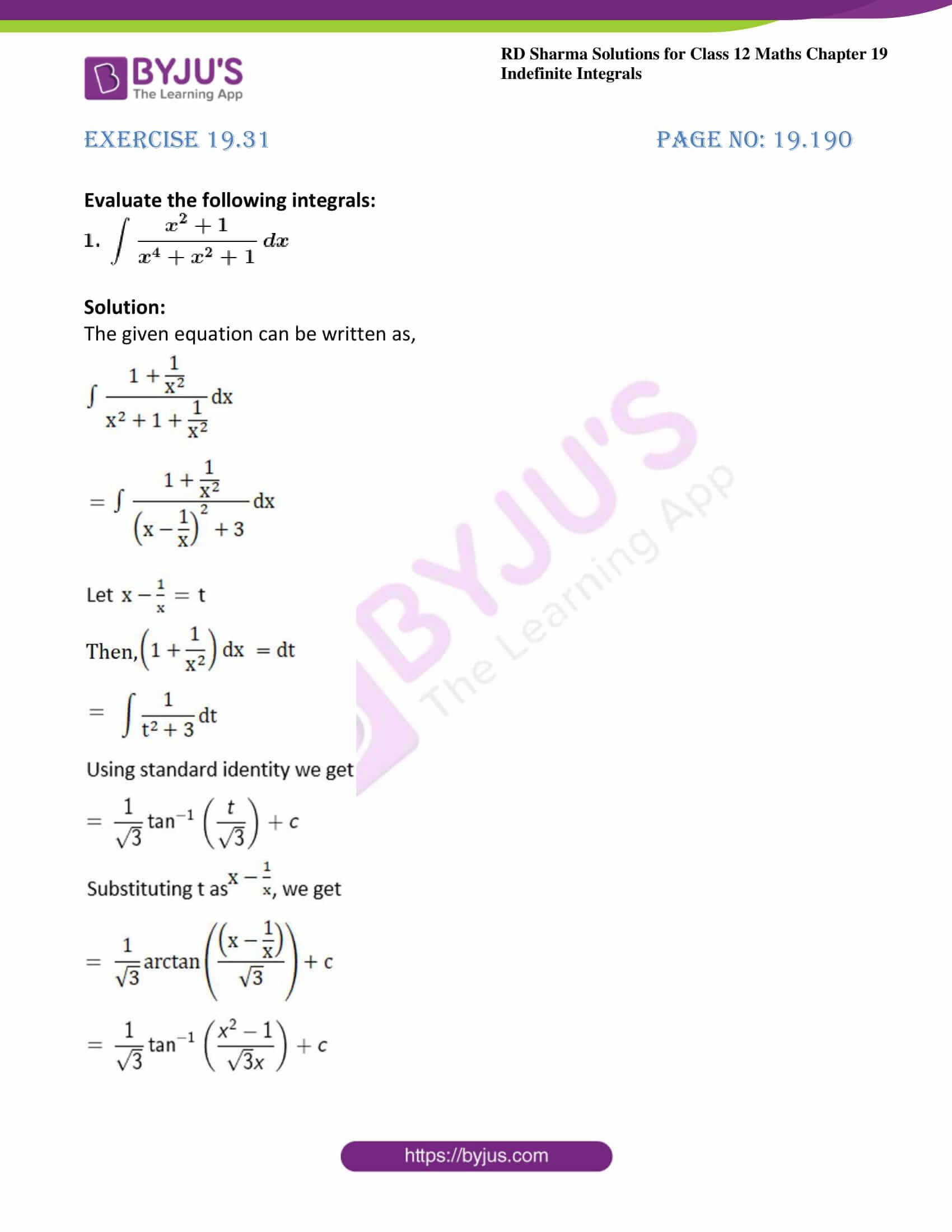 rd sharma class 12 maths solutions chapter 19 ex 31 1