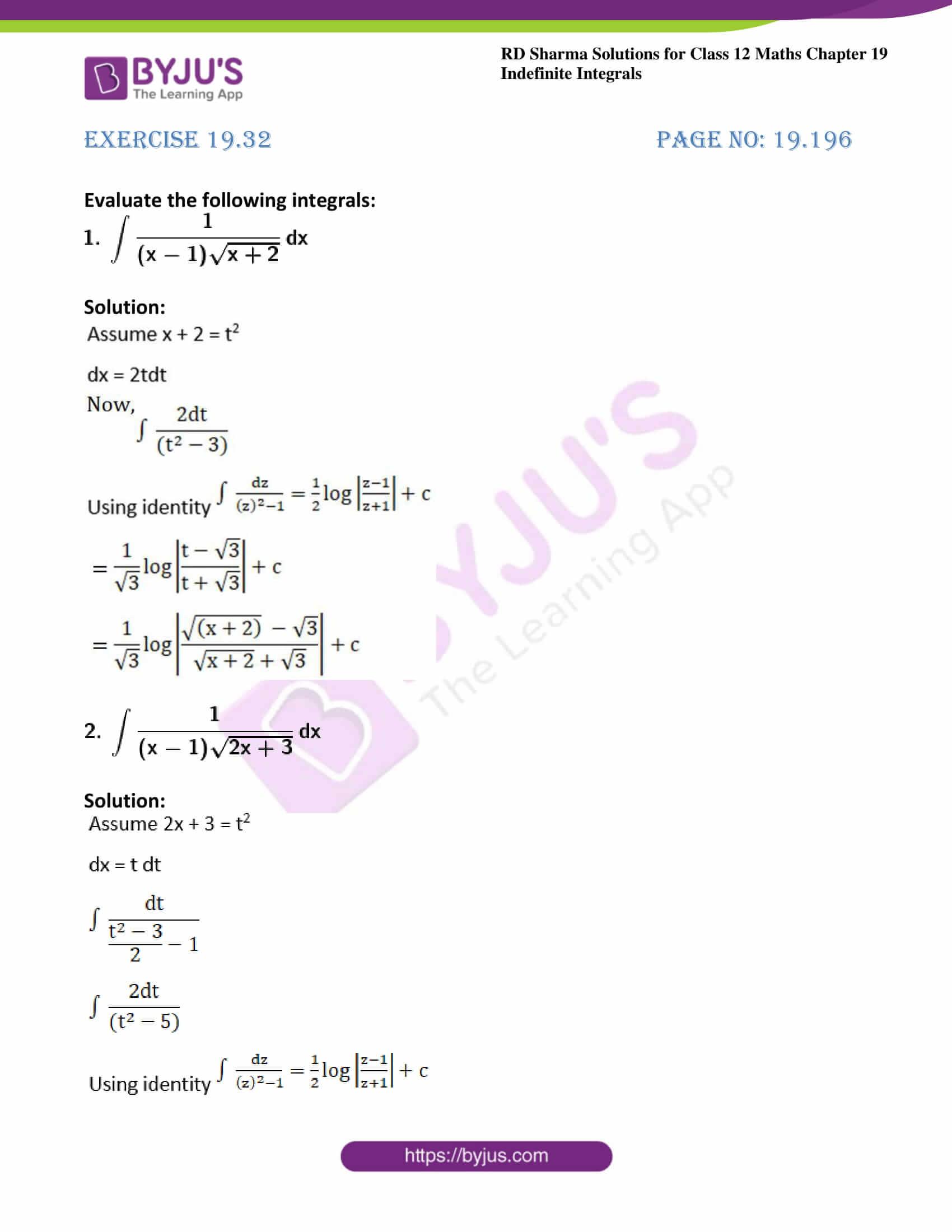 rd sharma class 12 maths solutions chapter 19 ex 32 1